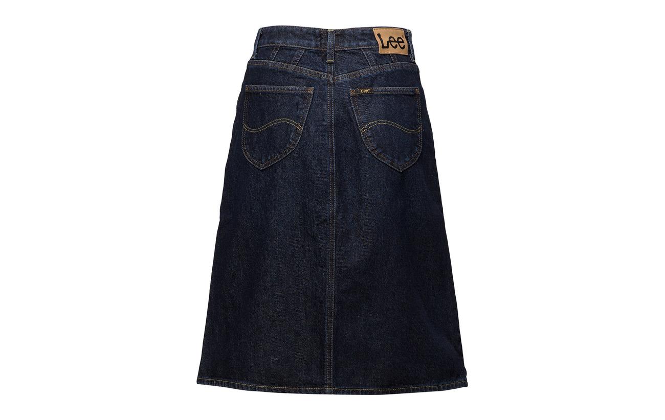 Long Buck A 100 Skirt Coton Line Jeans Lee Dark 1w5nqpx