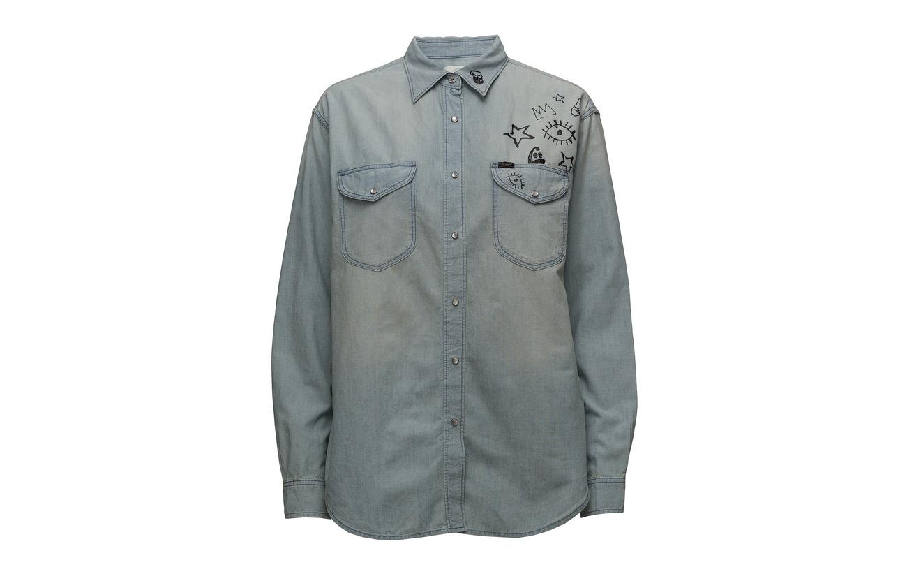True Oversized Hemp Doodle Western Bleach 24 Coton 76 Lee Jeans U8wgx5FWq