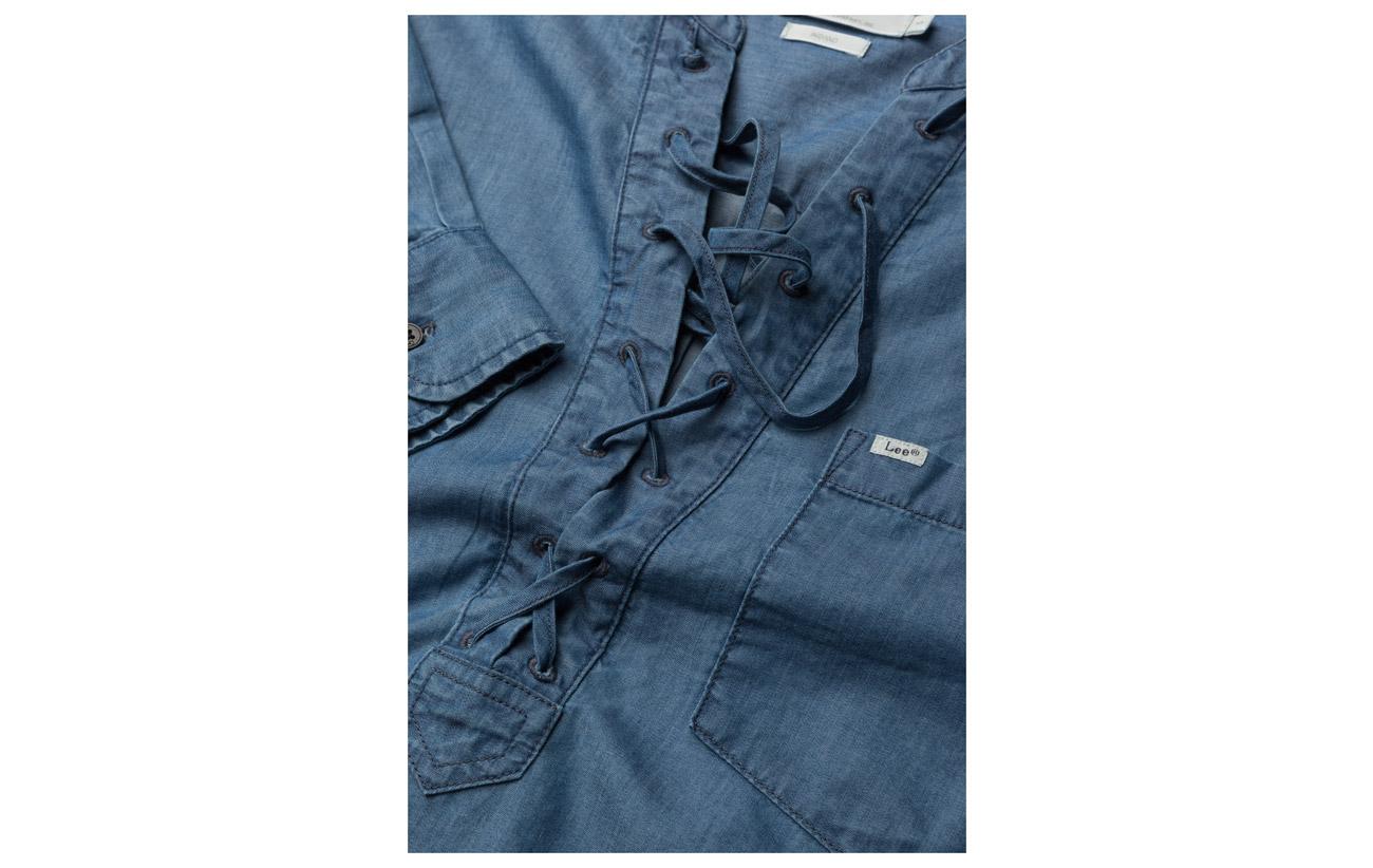 Lee Coton 35 Lyocell Indigo 65 Drawcord Shirt Jeans 4q7rwX4