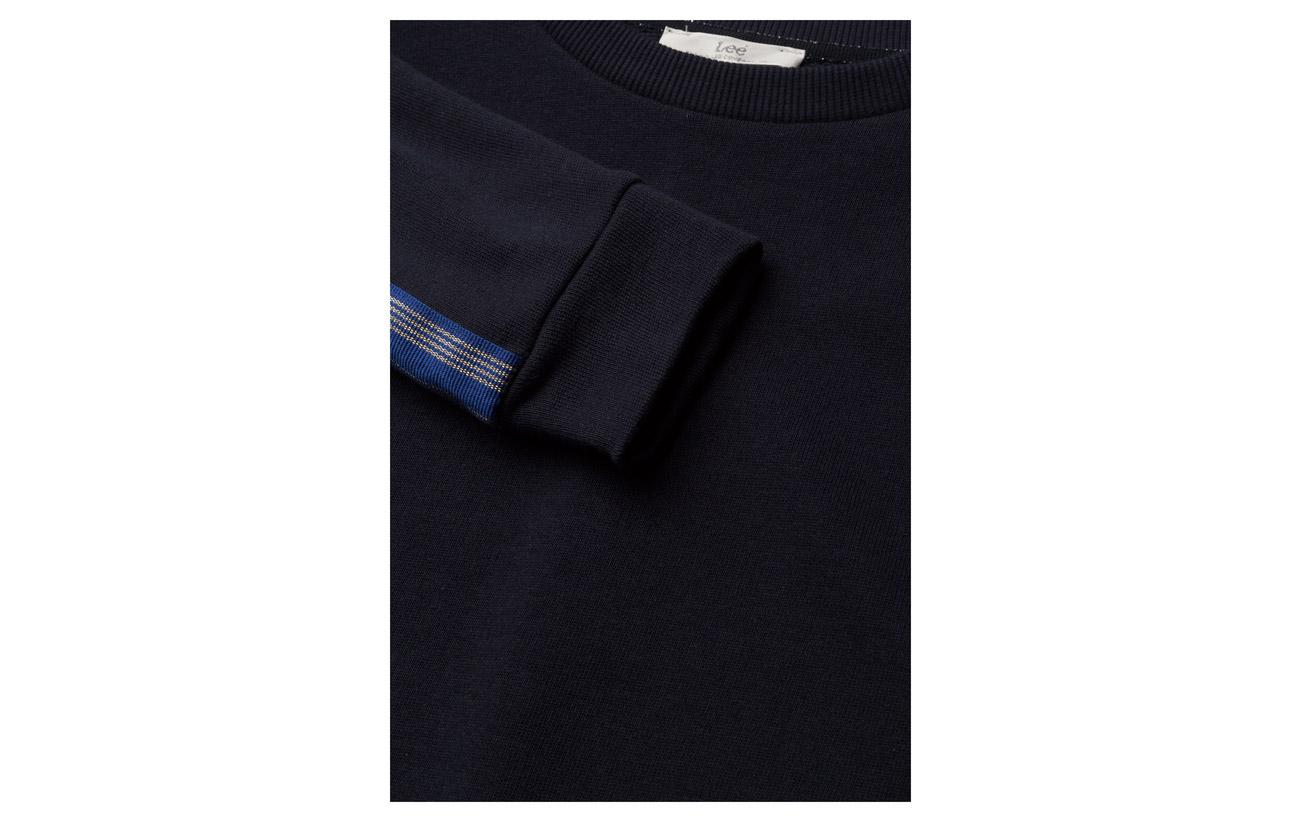 100 Taped Blue Lee Coton Jeans Sweatshirt Midnight wTq5IxX65
