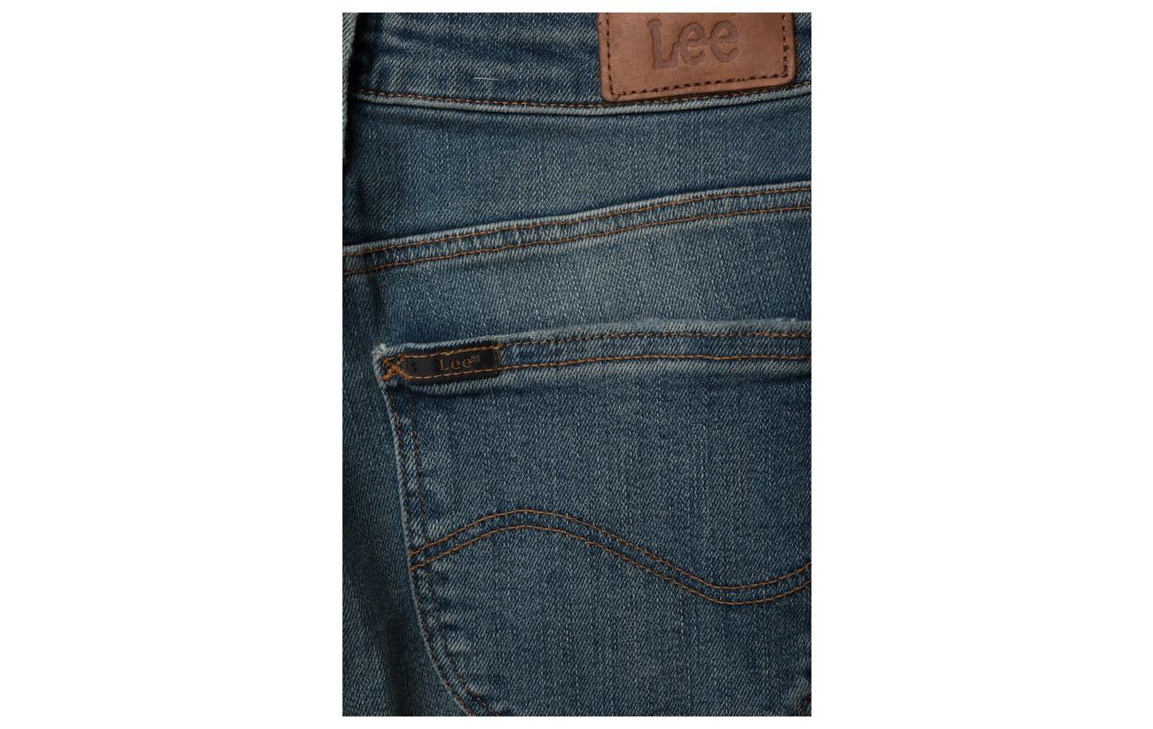 Elastomultiester 1 Coton 93 Elastane 5 High Lee Green Jeans Patched 5 Scarlett 5 nvvqzwgT