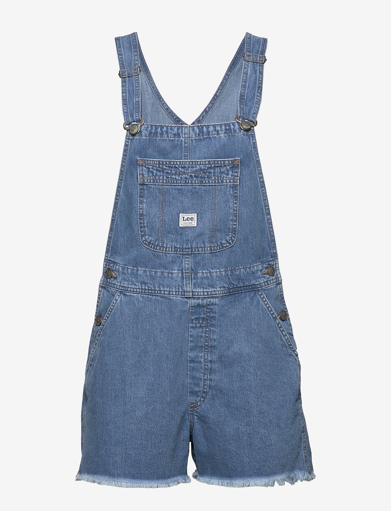 Lee Jeans - BIB SHORT - buksedragter - light trashed - 1