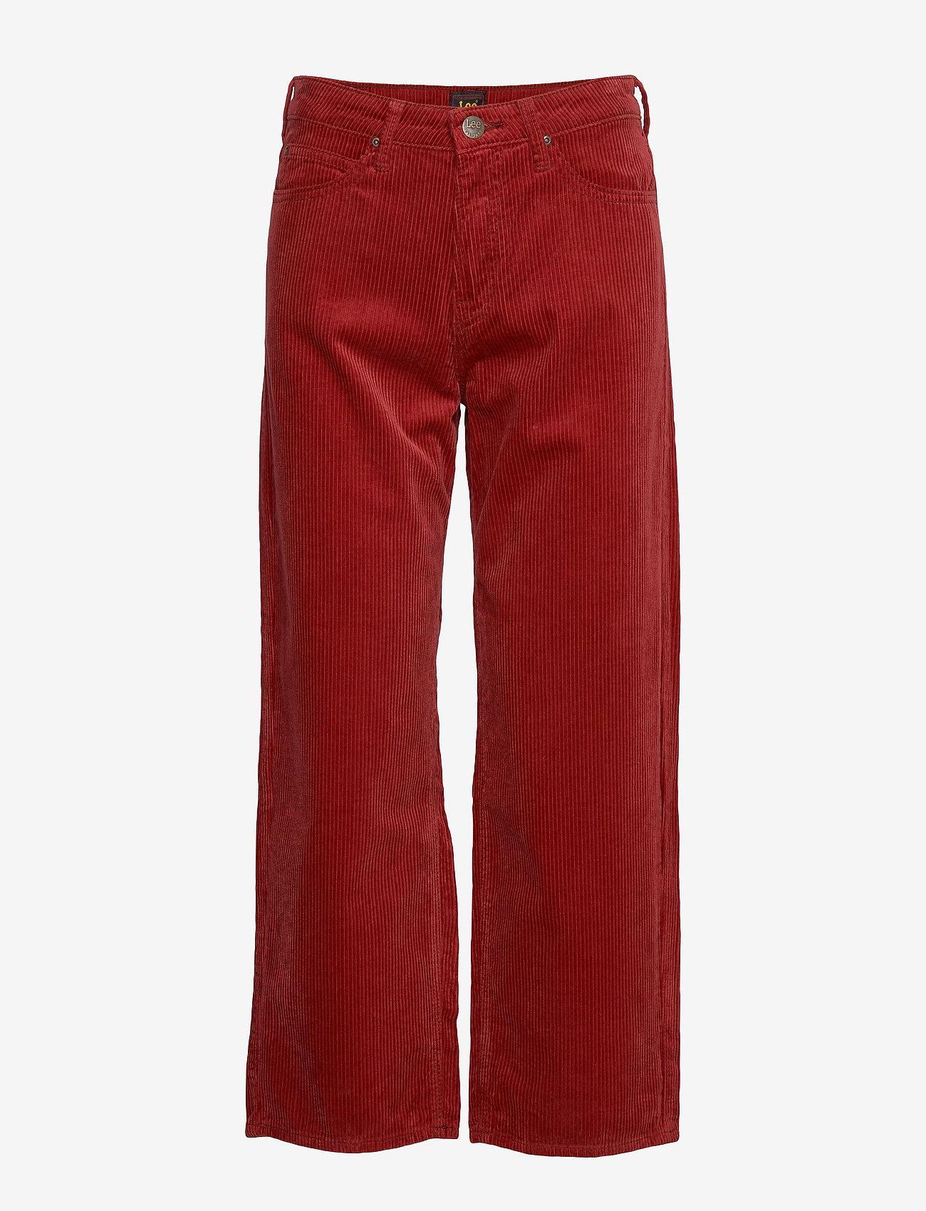 Lee Jeans - 5 POCKET WIDE LEG - vide bukser - biking red - 0