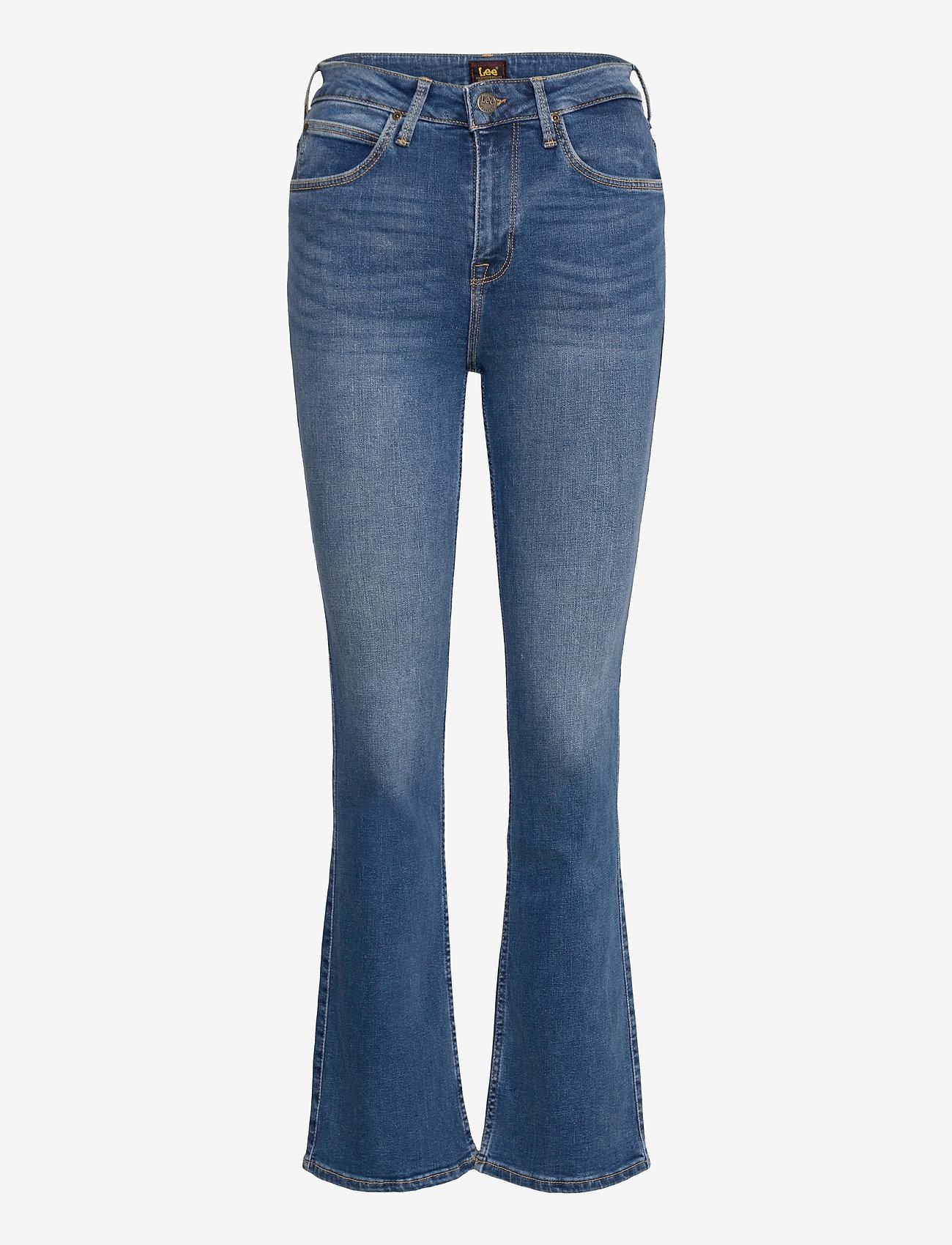 Lee Jeans - BREESE BOOT - schlaghosen - mid worn martha - 0