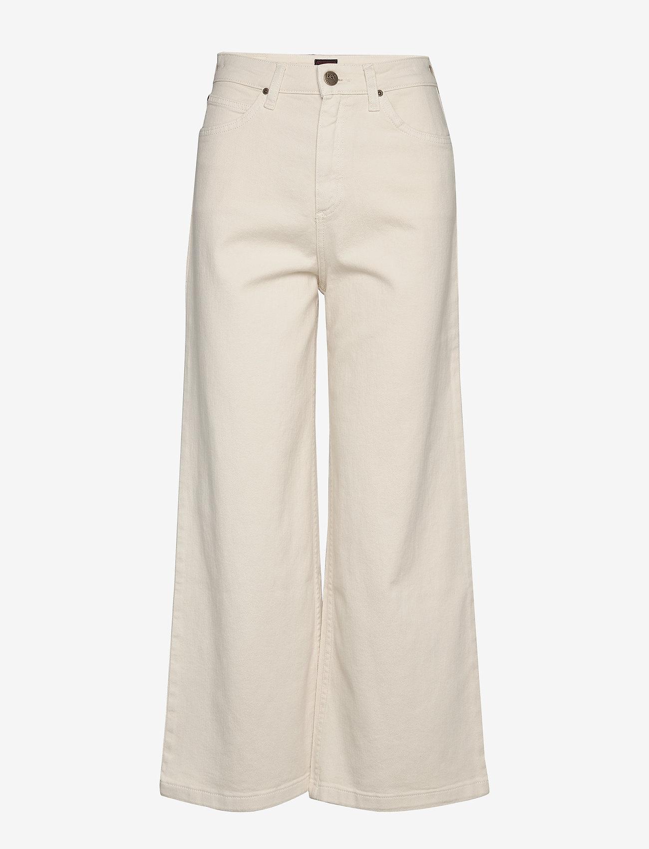 Lee Jeans - CROPPED A LINE FLARE - szerokie dżinsy - buttercream - 0