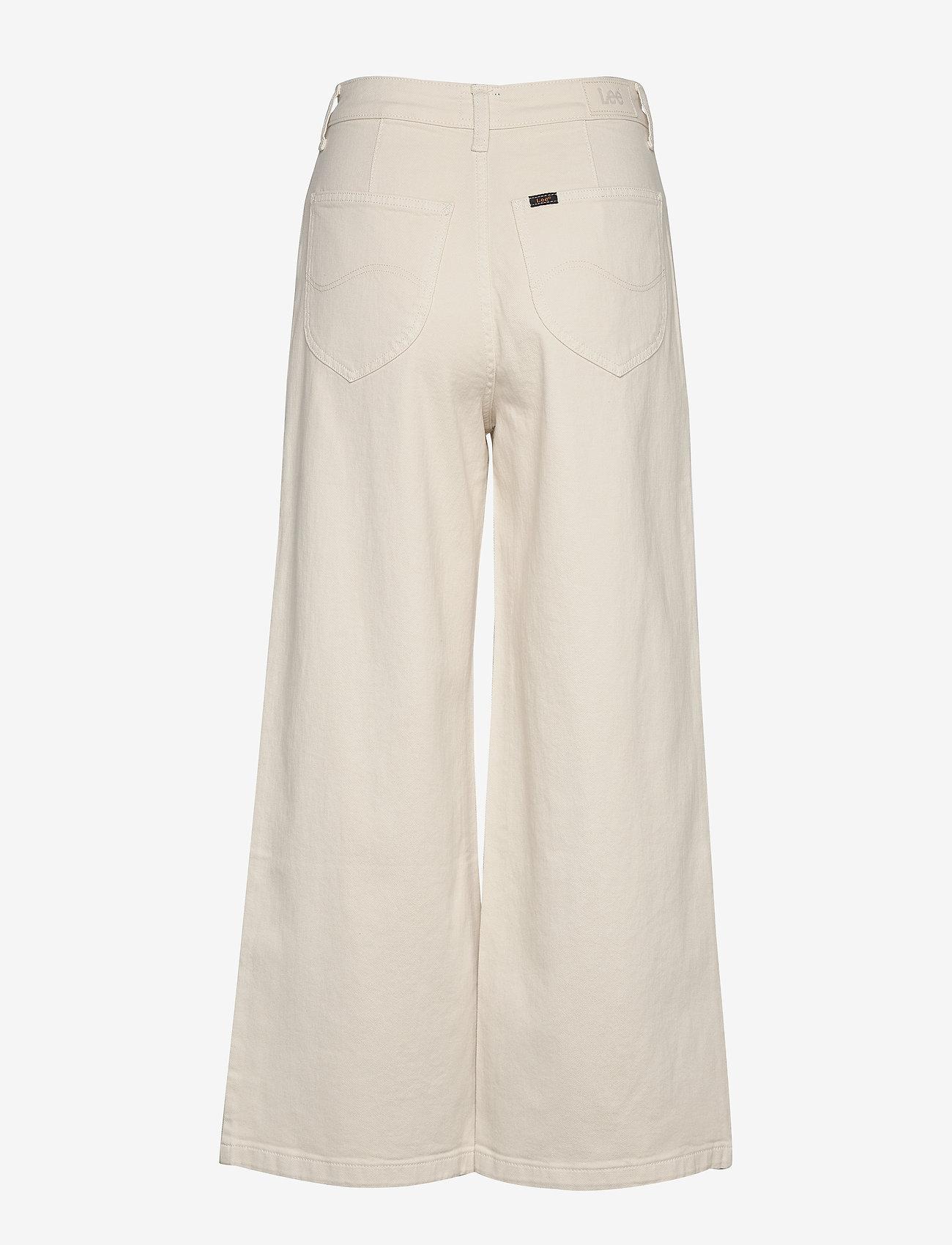 Lee Jeans - CROPPED A LINE FLARE - szerokie dżinsy - buttercream - 1