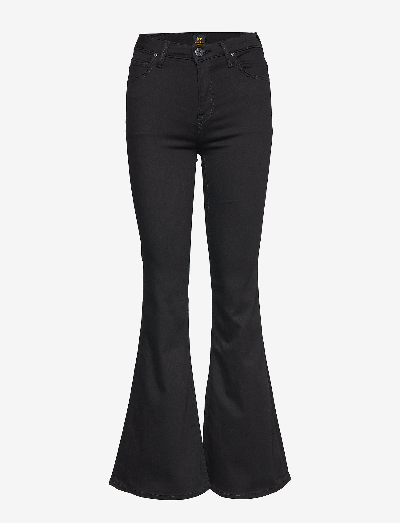 Lee Jeans - BREESE - schlaghosen - black rinse - 0