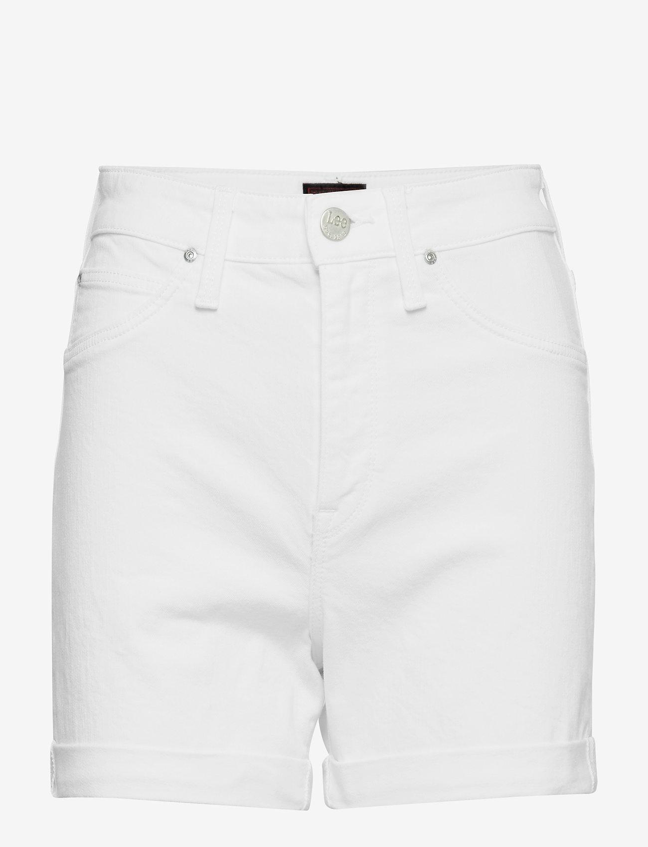 Lee Jeans - MOM SHORT - denimshorts - off white - 0
