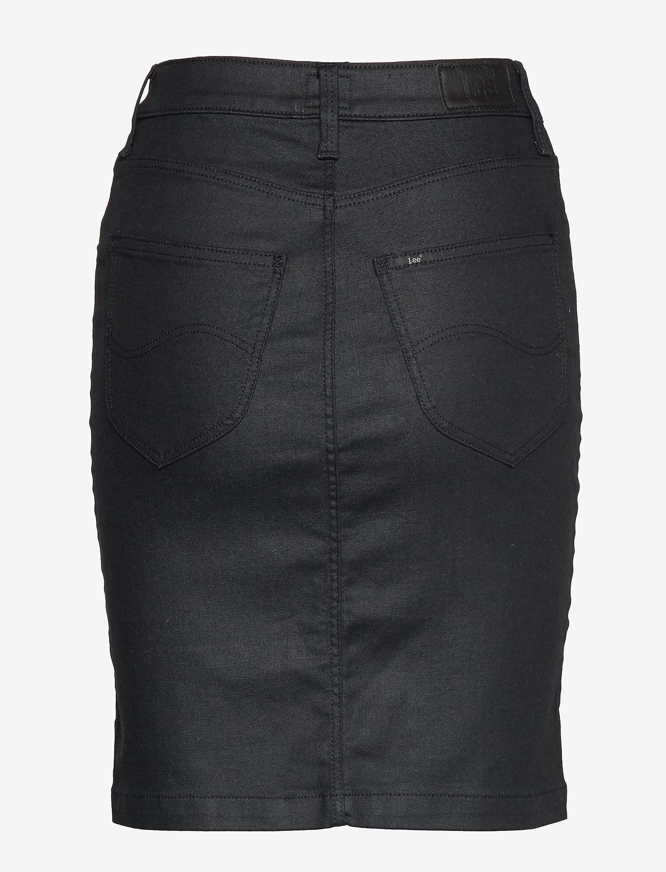 Lee Jeans - HIGH WAIST ZIP SKIRT - denimskjørt - coated leola - 1
