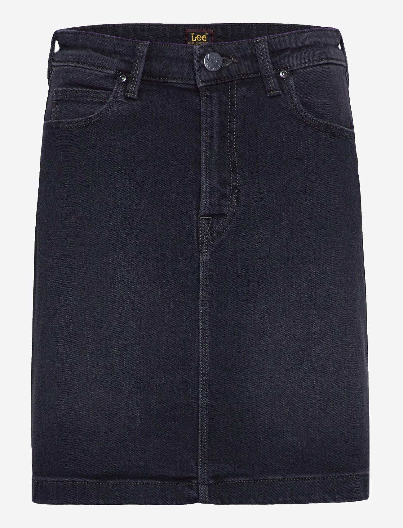 Lee Jeans - A Line Zip Skirt - jeanskjolar - captain black - 0