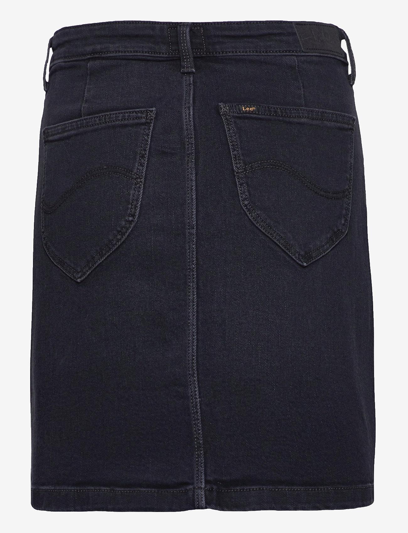 Lee Jeans - A Line Zip Skirt - jeanskjolar - captain black - 1