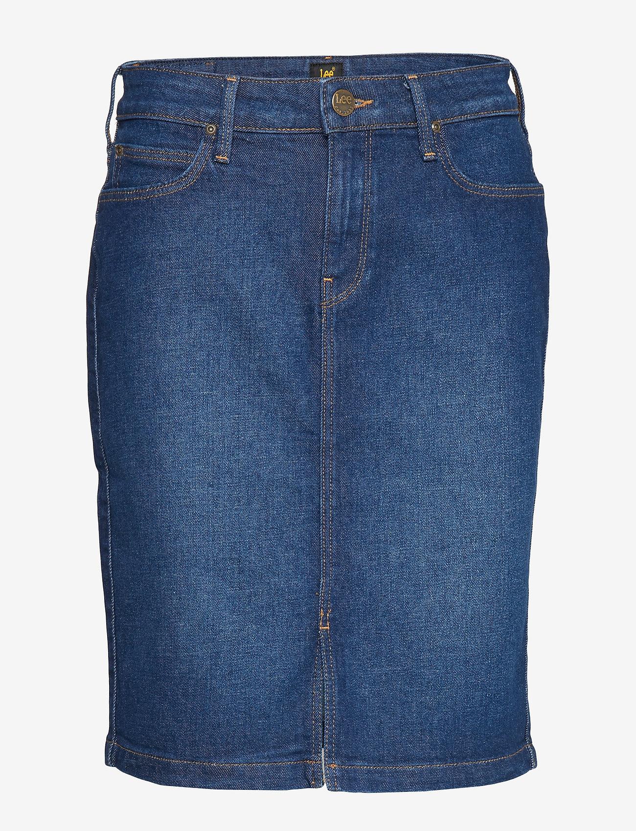 Lee Jeans - PENCIL SKIRT - denimskjørt - dark garner - 0