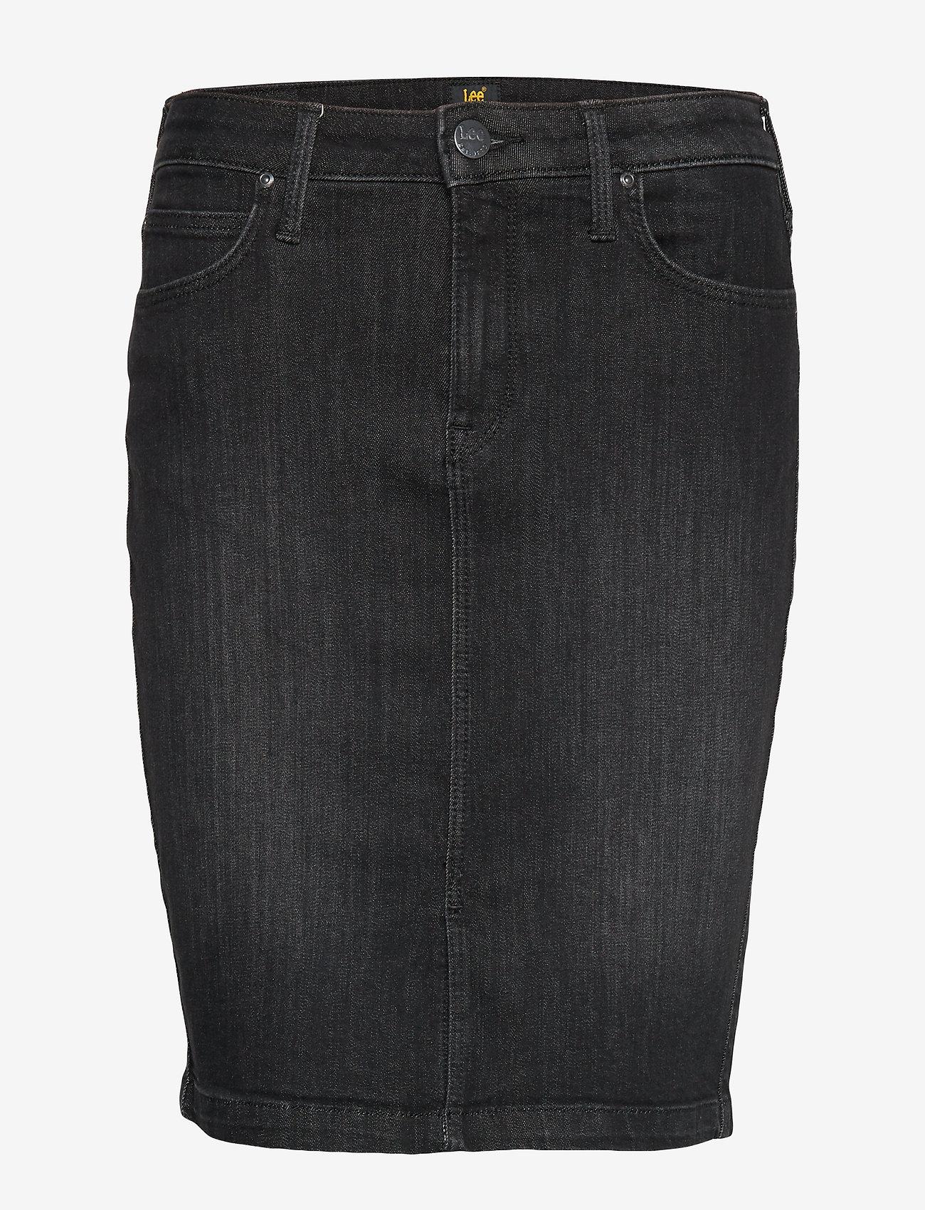 Lee Jeans - PENCIL SKIRT - denimskjørt - black orrick - 0