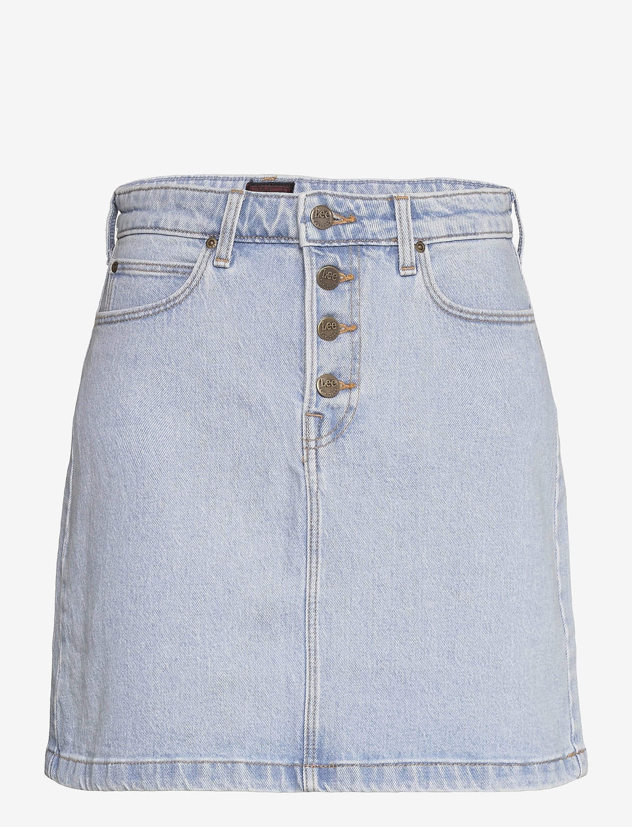 Lee Jeans - BUTTON FLY A LINE SK - jeanskjolar - light alton - 0