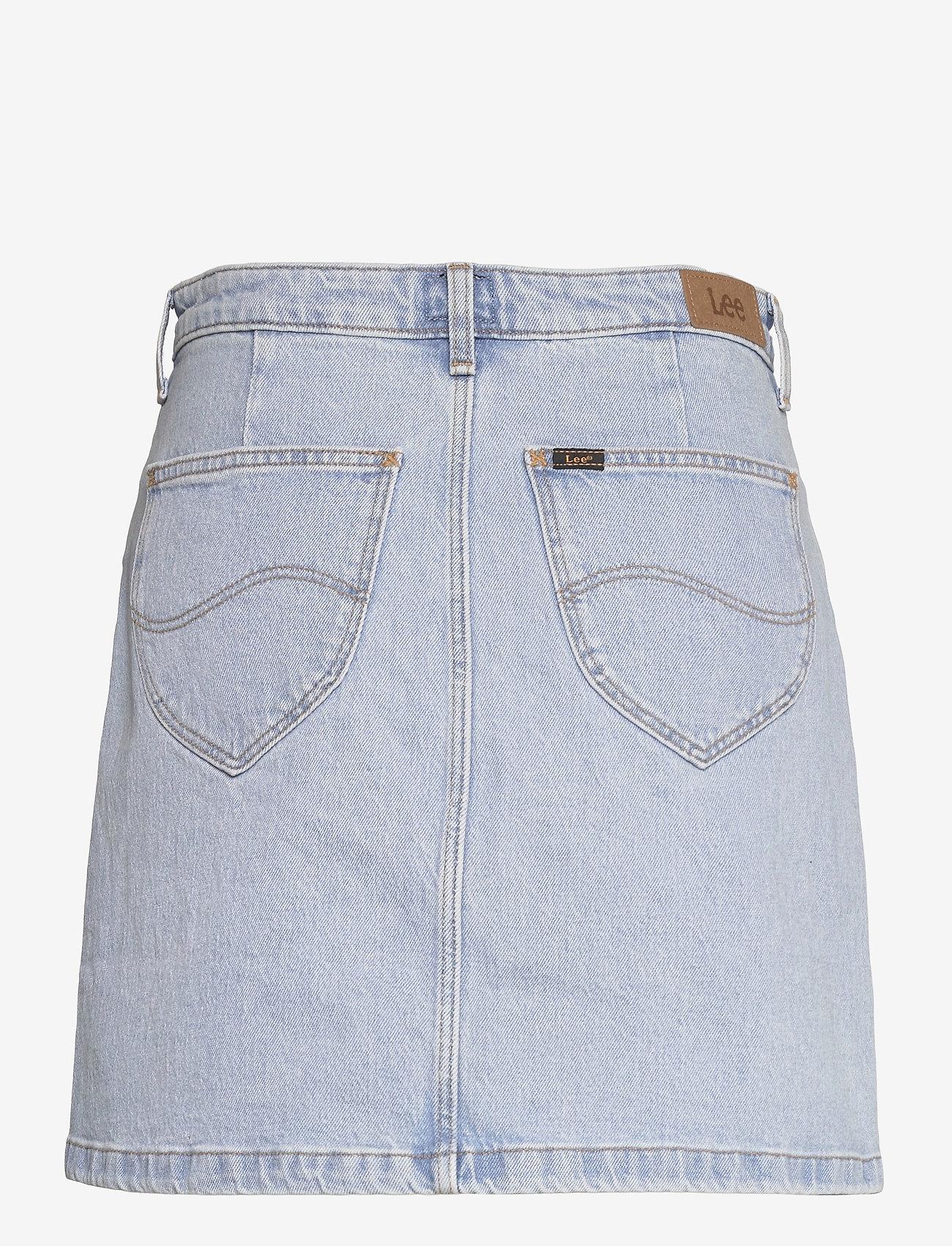 Lee Jeans - BUTTON FLY A LINE SK - jeanskjolar - light alton - 1