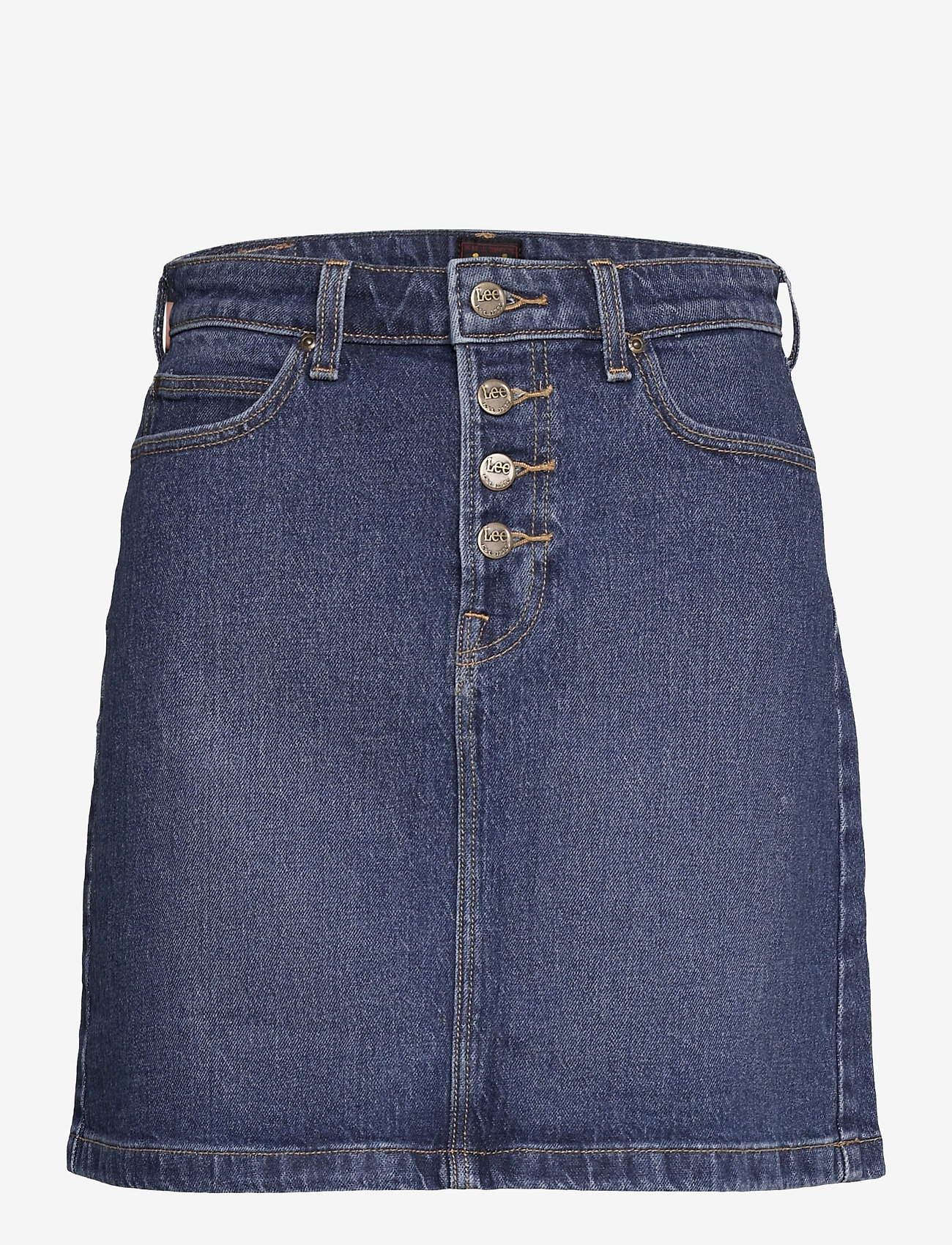 Lee Jeans - BUTTON FLY A LINE SK - jeanskjolar - dark buxton - 0