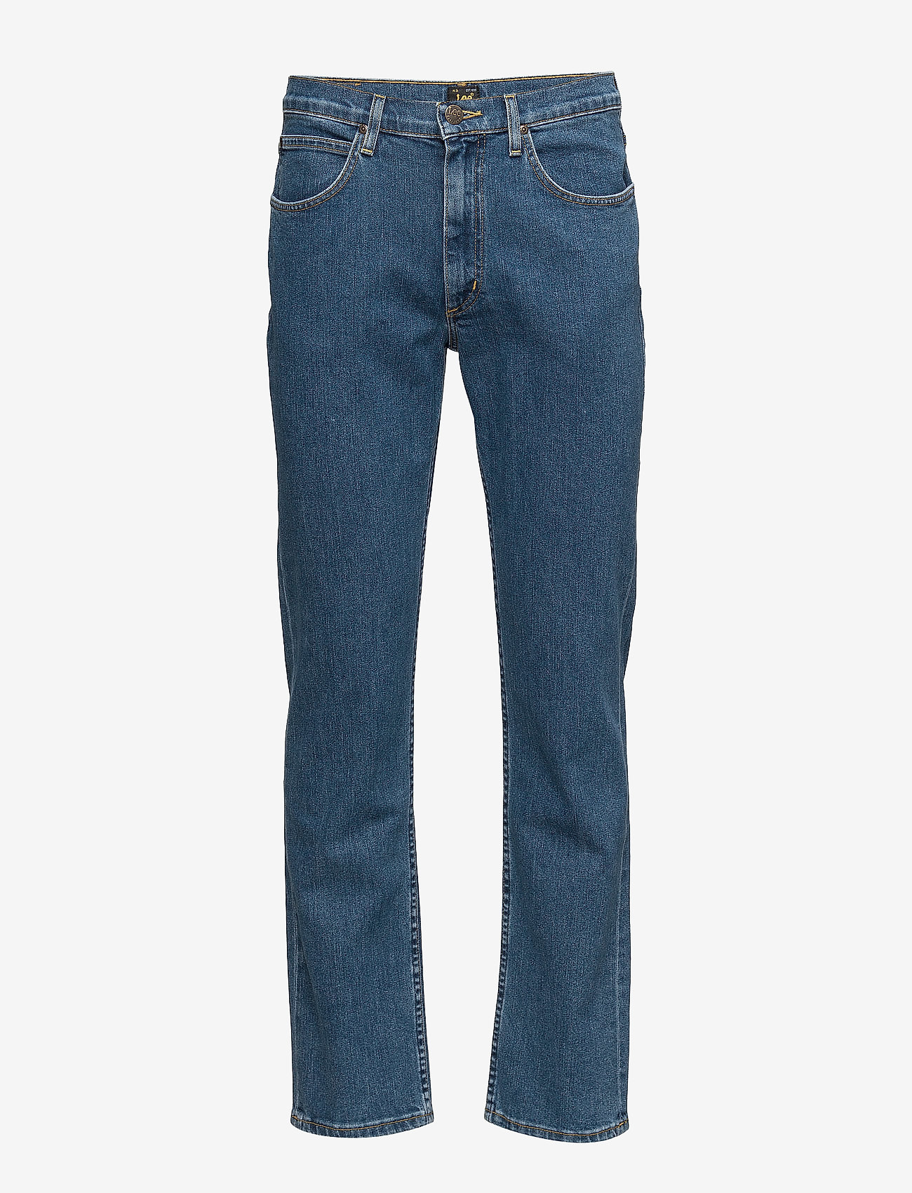 Lee Jeans - BROOKLYN STRAIGHT - relaxed jeans - mid stonewash - 0