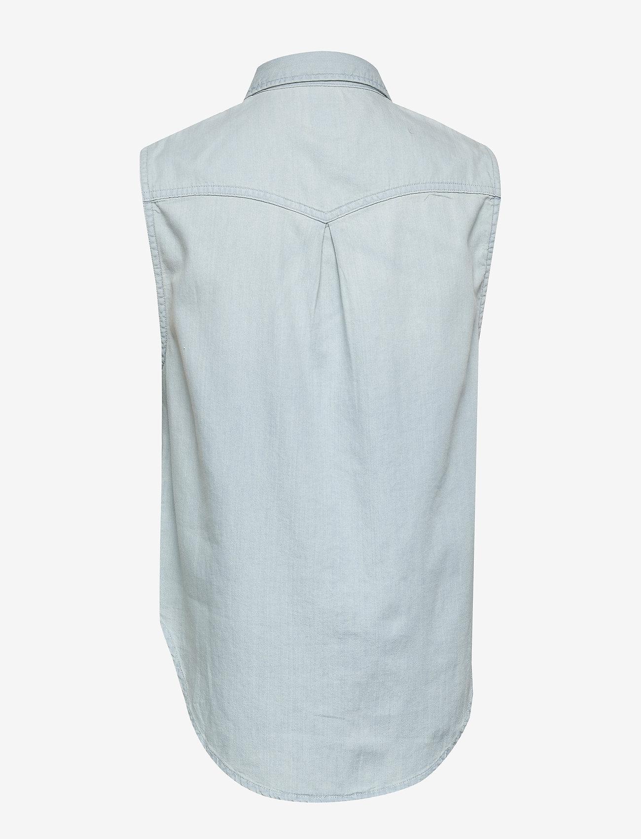 Lee Jeans - SLEEVELESS SHIRT - jeansowe koszule - sterling blue - 1