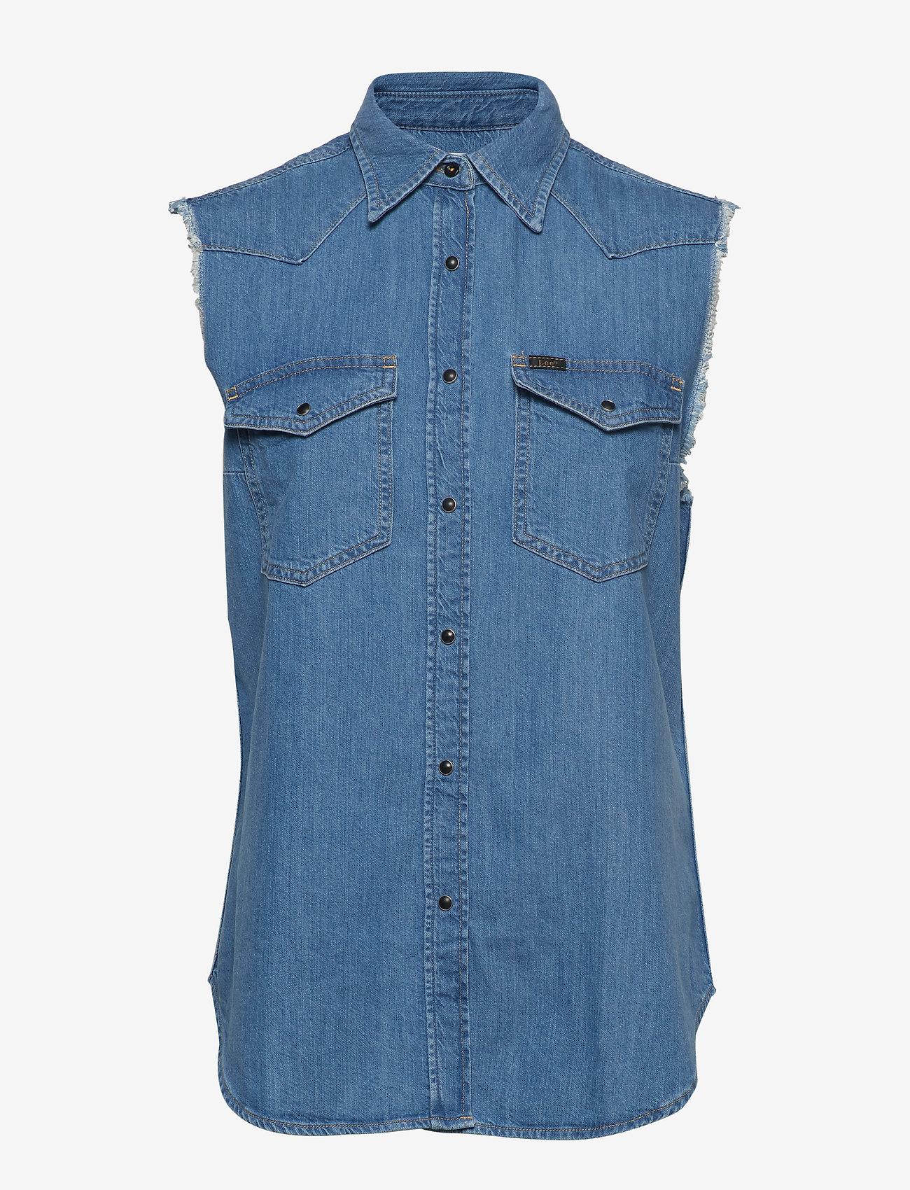 Lee Jeans - CUT OFF WESTERN SHIR - denim shirts - light summer