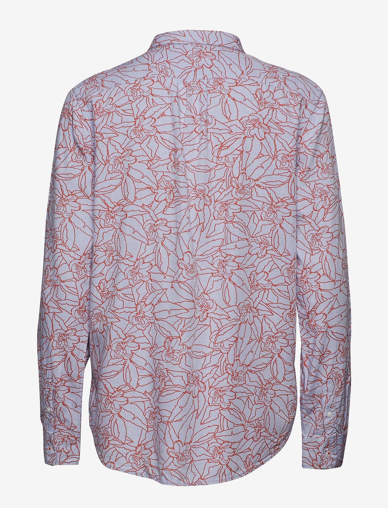 Lee Jeans - ONE POCKET SHIRT - long sleeved blouses - burned red