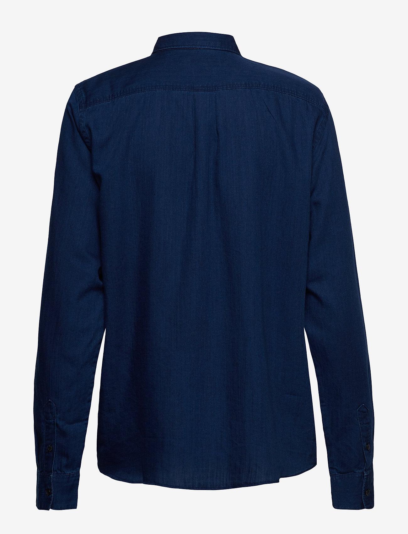 Lee Jeans - ONE POCKET SHIRT - langermede skjorter - oil blue - 1