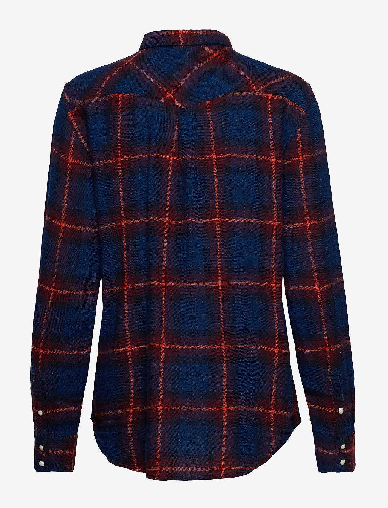 Lee Jeans REGULAR WESTERN - Bluzki & Koszule MIDNIGHT NAVY - Kobiety Odzież.