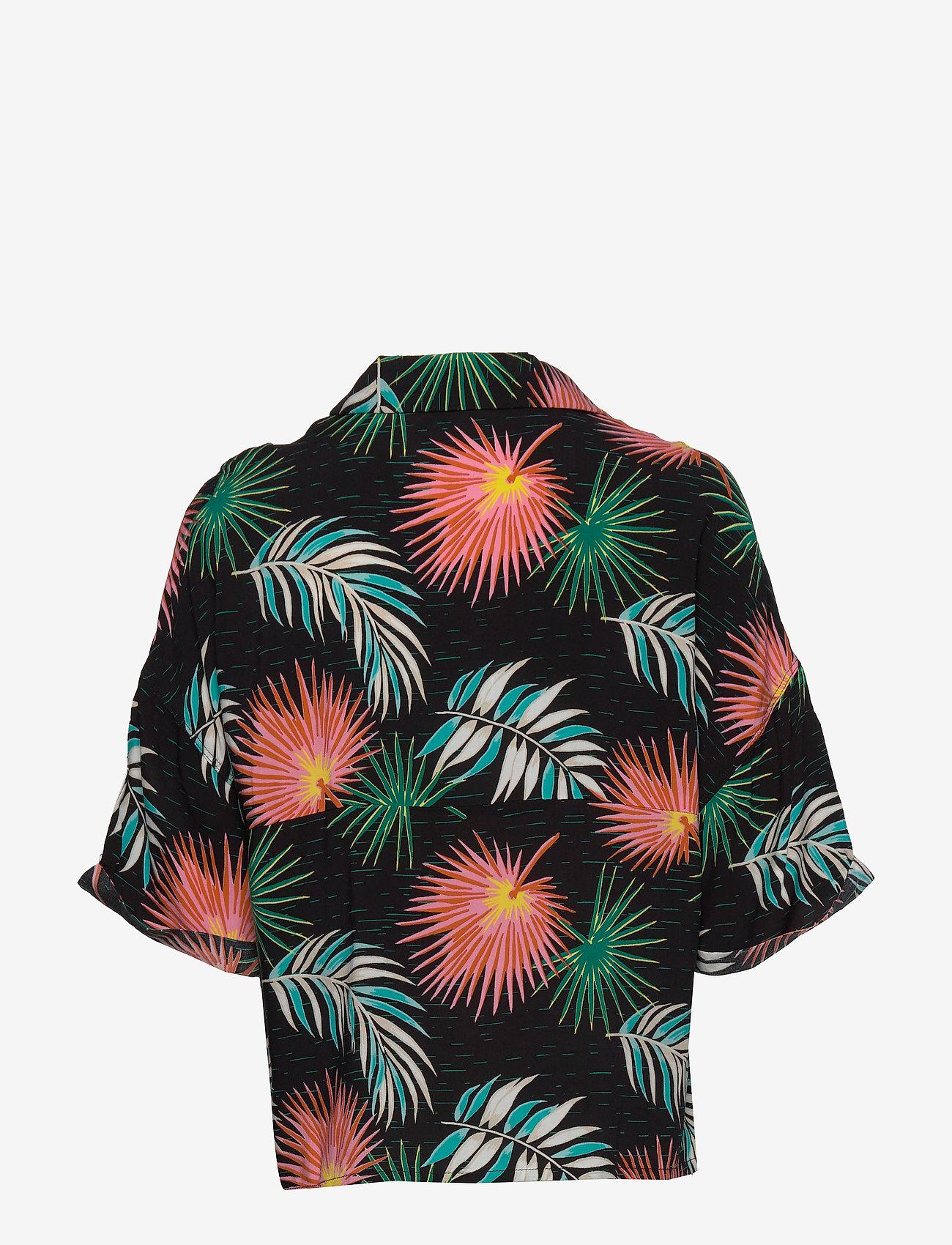 Lee Jeans - FLORAL RESORT SHIRT - overhemden met korte mouwen - black - 1