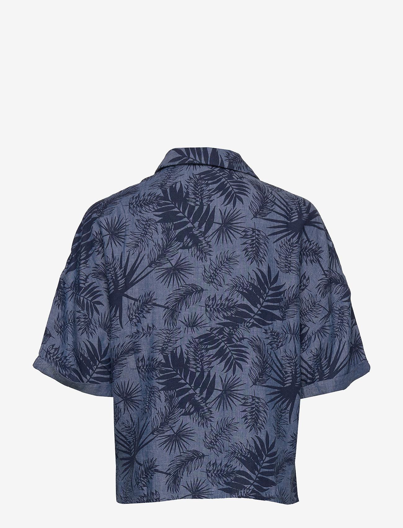 Lee Jeans - FLORAL RESORT SHIRT - overhemden met korte mouwen - washed blue - 1