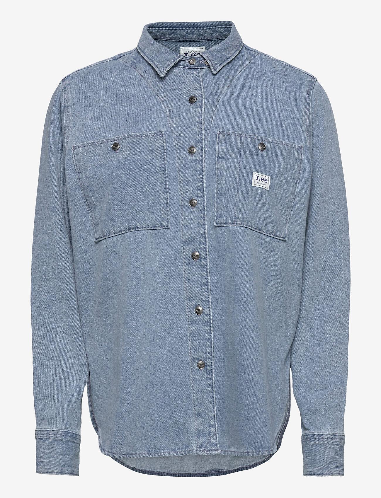 Lee Jeans - WORKER SHIRT - jeansskjortor - faded blue - 0