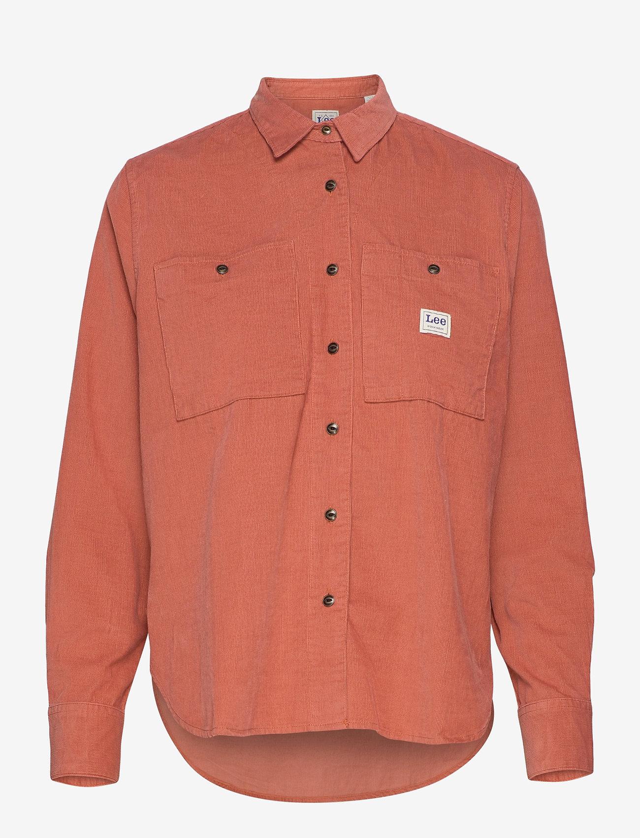 Lee Jeans - WORKER SHIRT - denim shirts - burnt ocra - 0