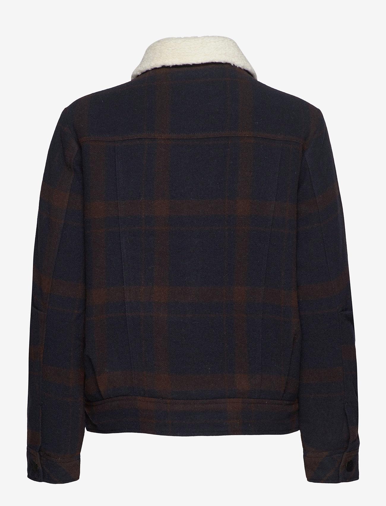 Lee Jeans - WOOL CHECK SHERPA JK - wool jackets - winter brown - 1