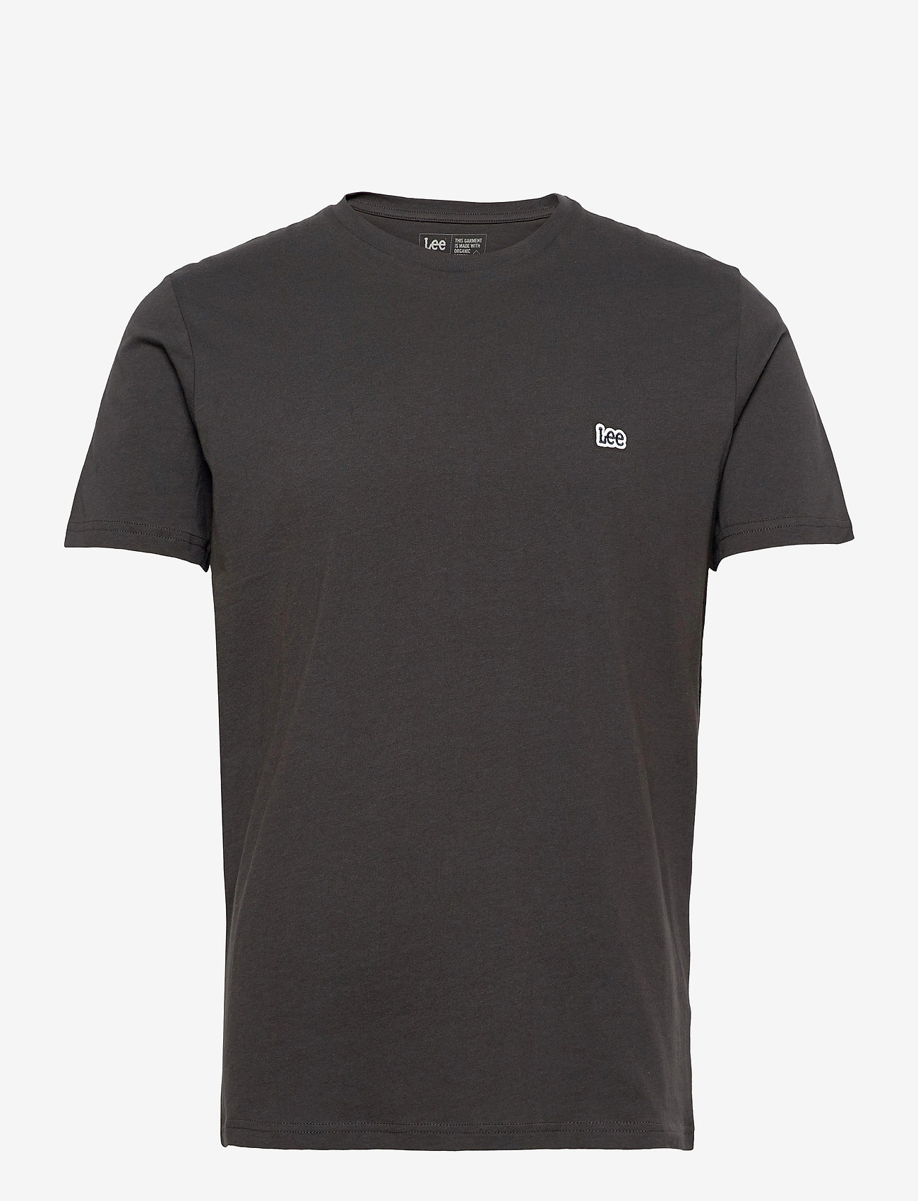 Lee Jeans - SS PATCH LOGO TEE - basic t-shirts - washed black - 0