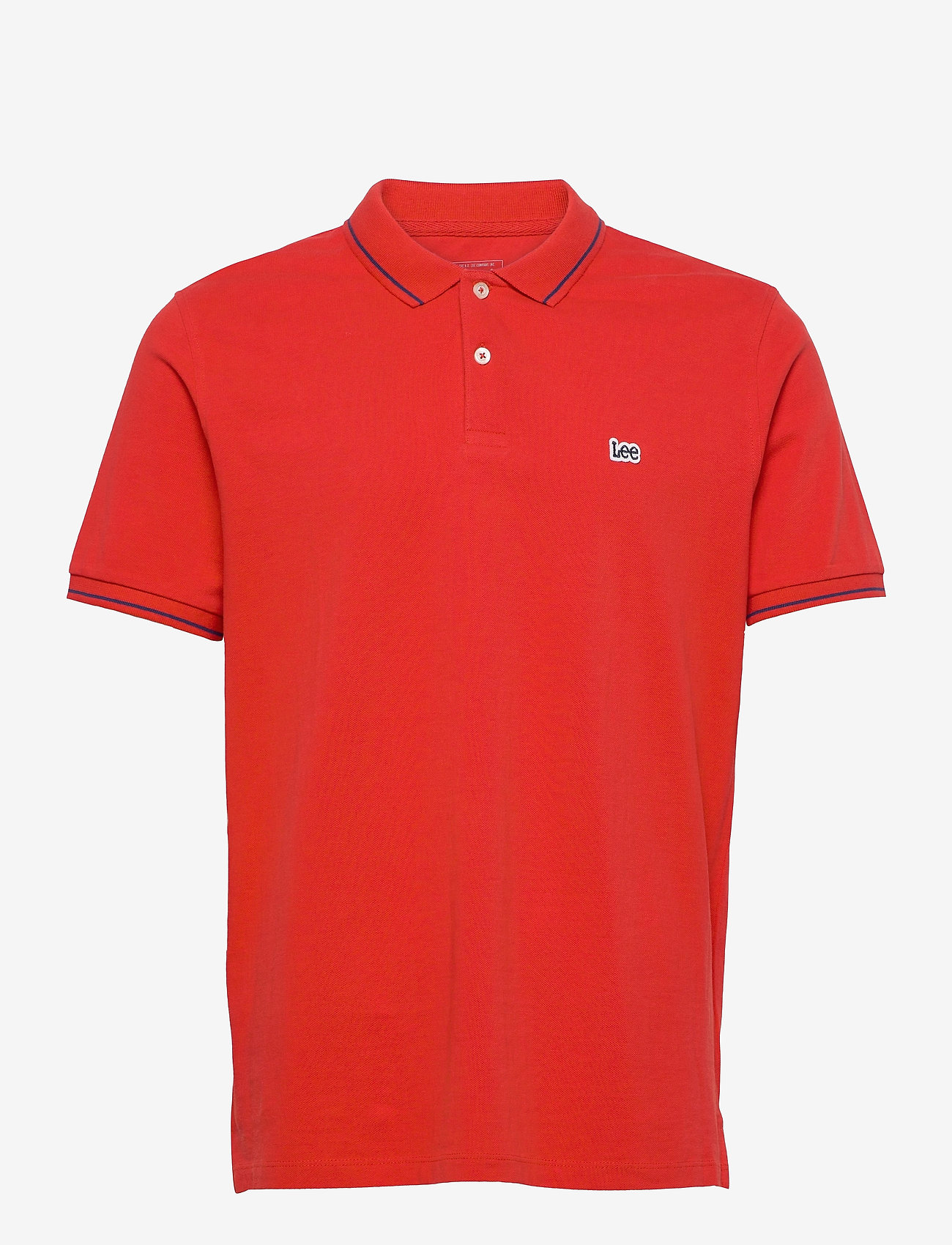 Lee Jeans - PIQUE POLO - short-sleeved polos - washed red - 0