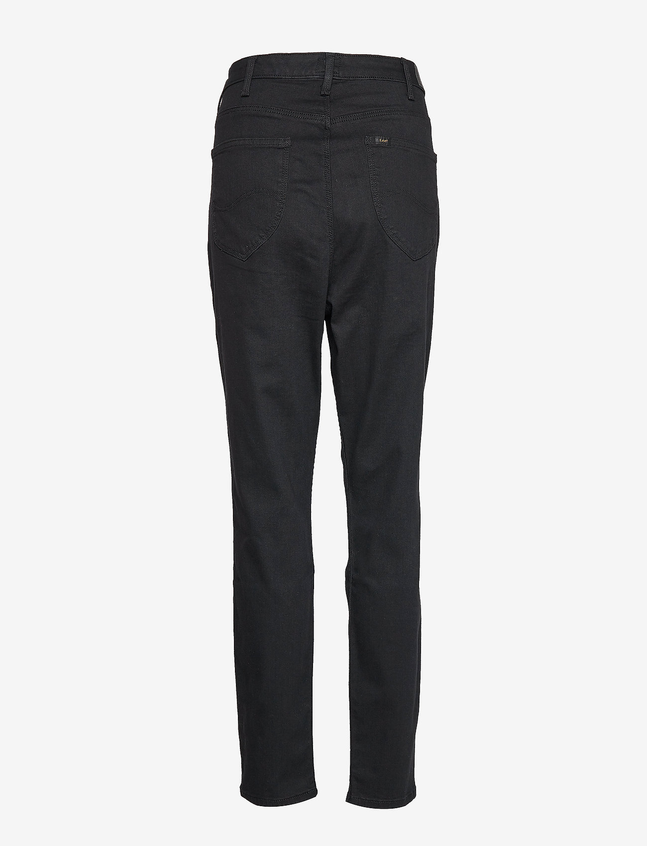 Lee Jeans - SCARLETT HIGH - pantalons droits - black rinse - 1