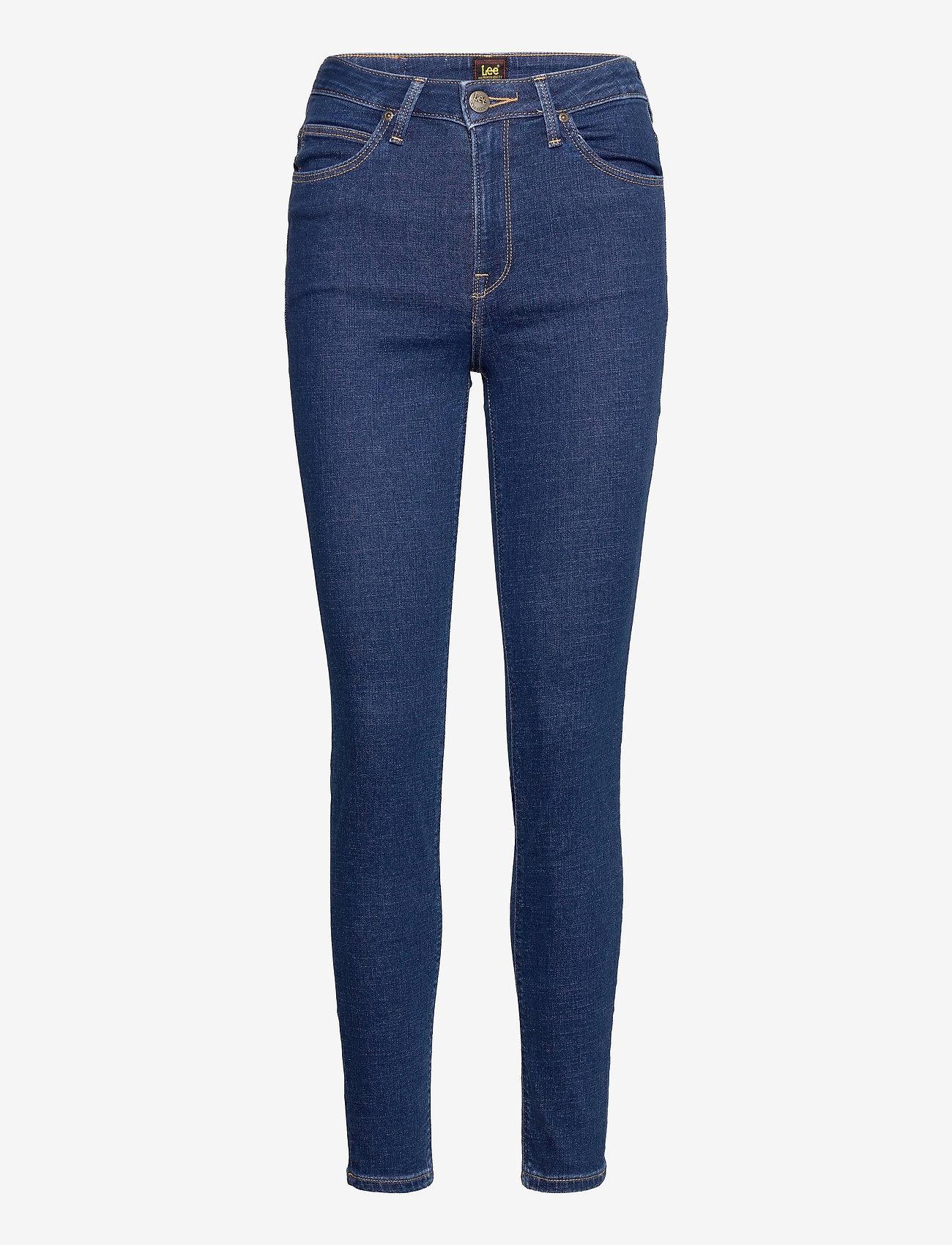 Lee Jeans - SCARLETT HIGH - skinny jeans - dark mono - 0