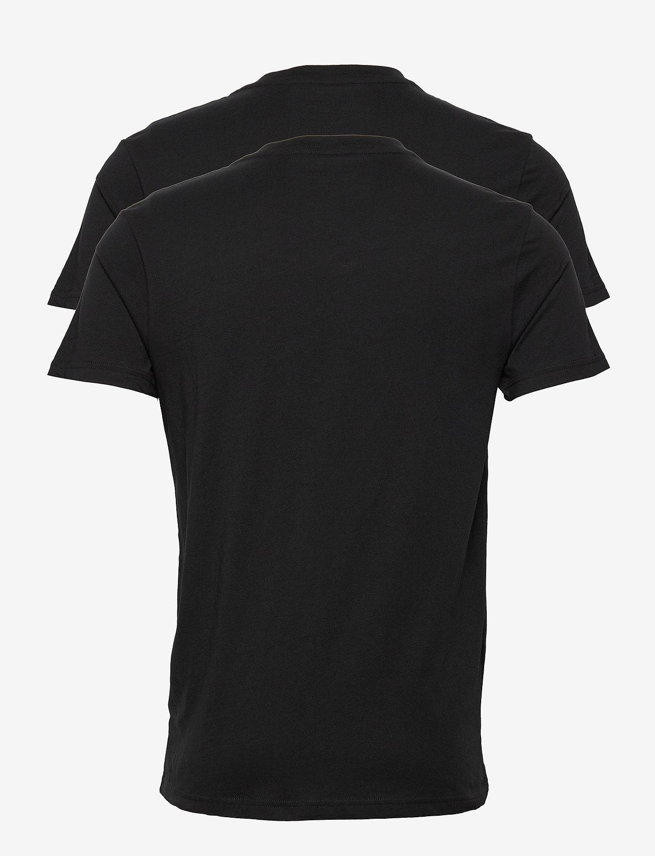 Lee Jeans - 2-PACK V NECK - basic t-shirts - black - 1