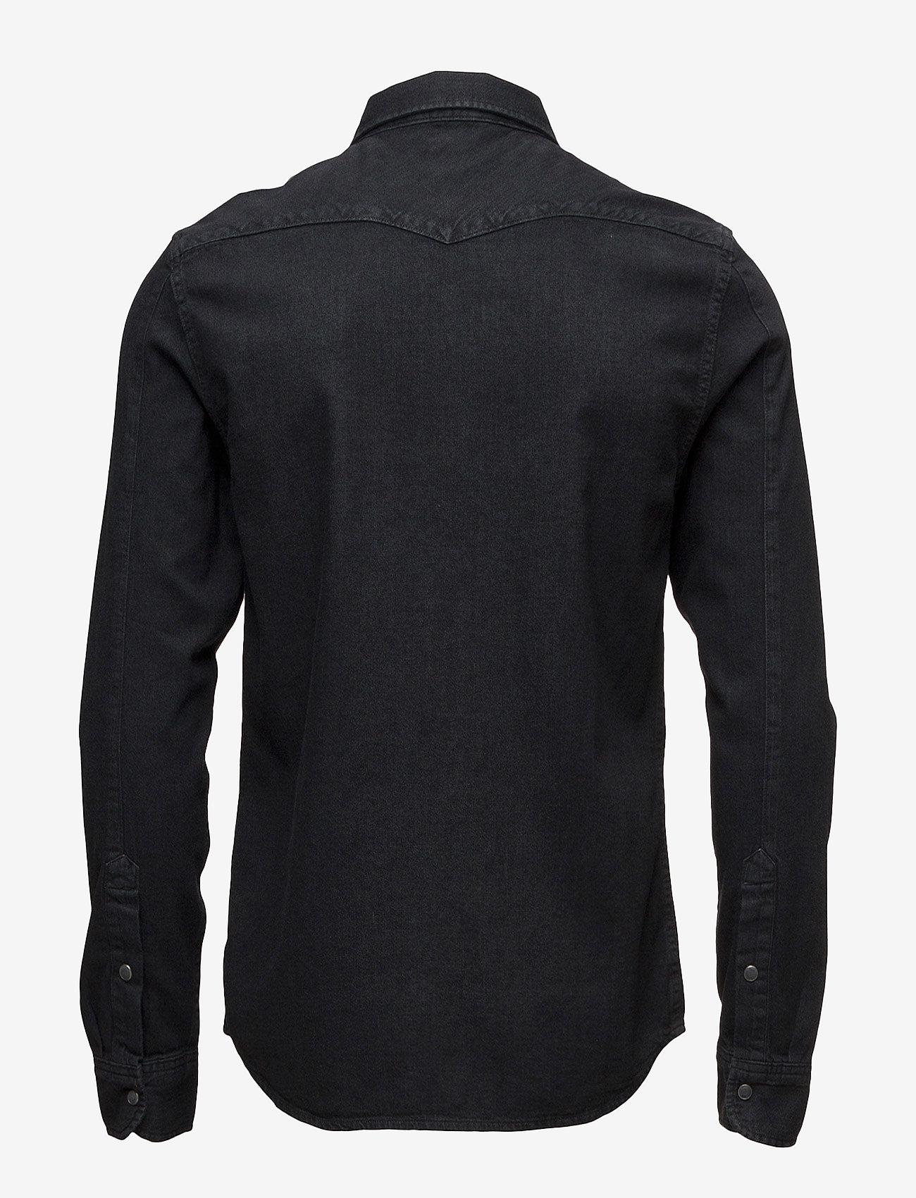 Lee Jeans - LEE WESTERN SHIRT PITCH BLACK - farkkupaidat - pitch black - 1