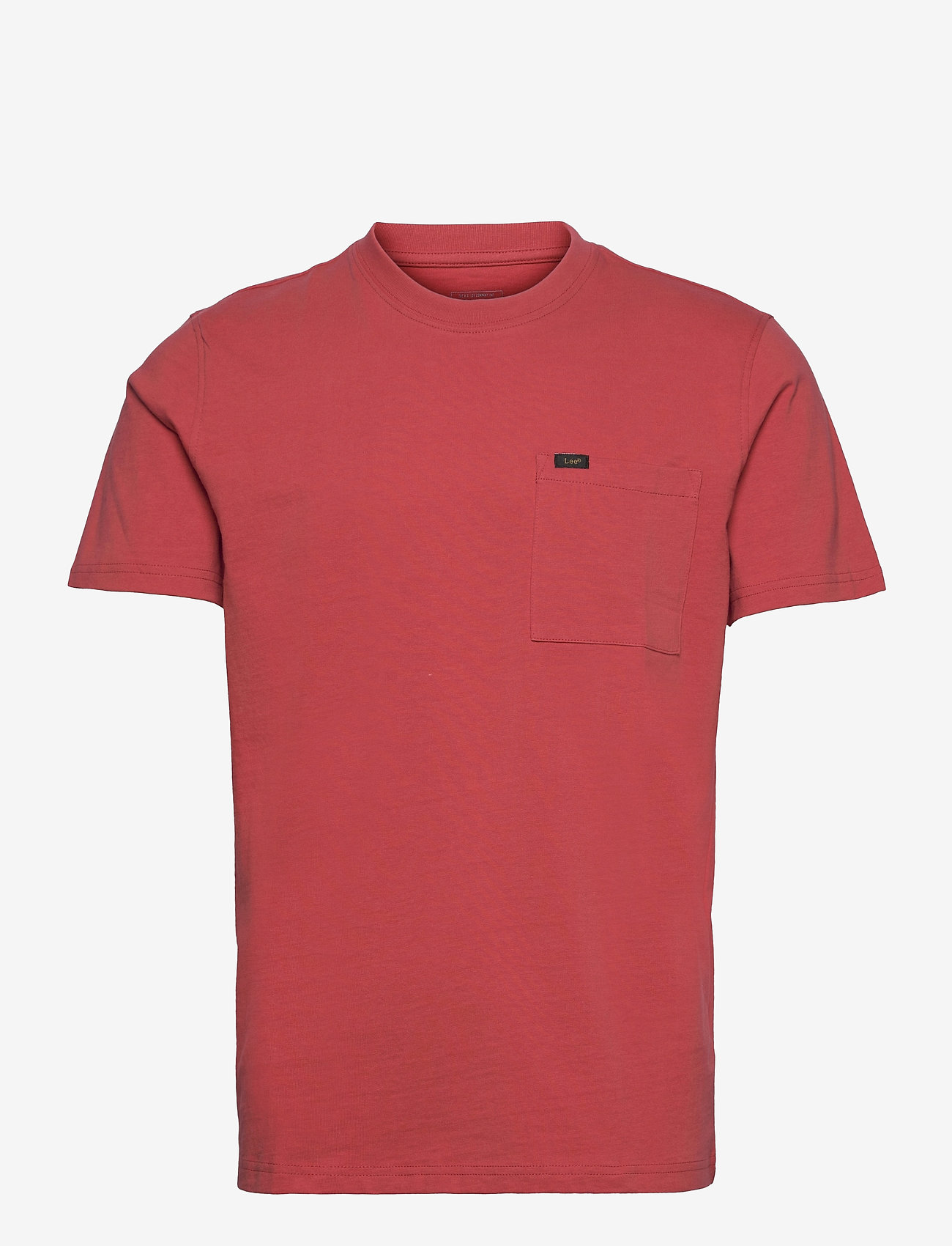 Lee Jeans - SS POCKET TEE - basic t-shirts - washed red - 0
