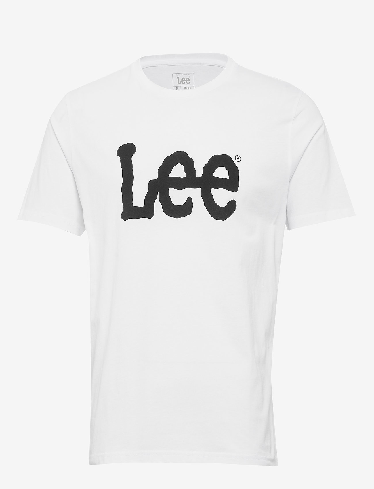 Lee Jeans - WOBBLY LOGO TEE - short-sleeved t-shirts - white - 0