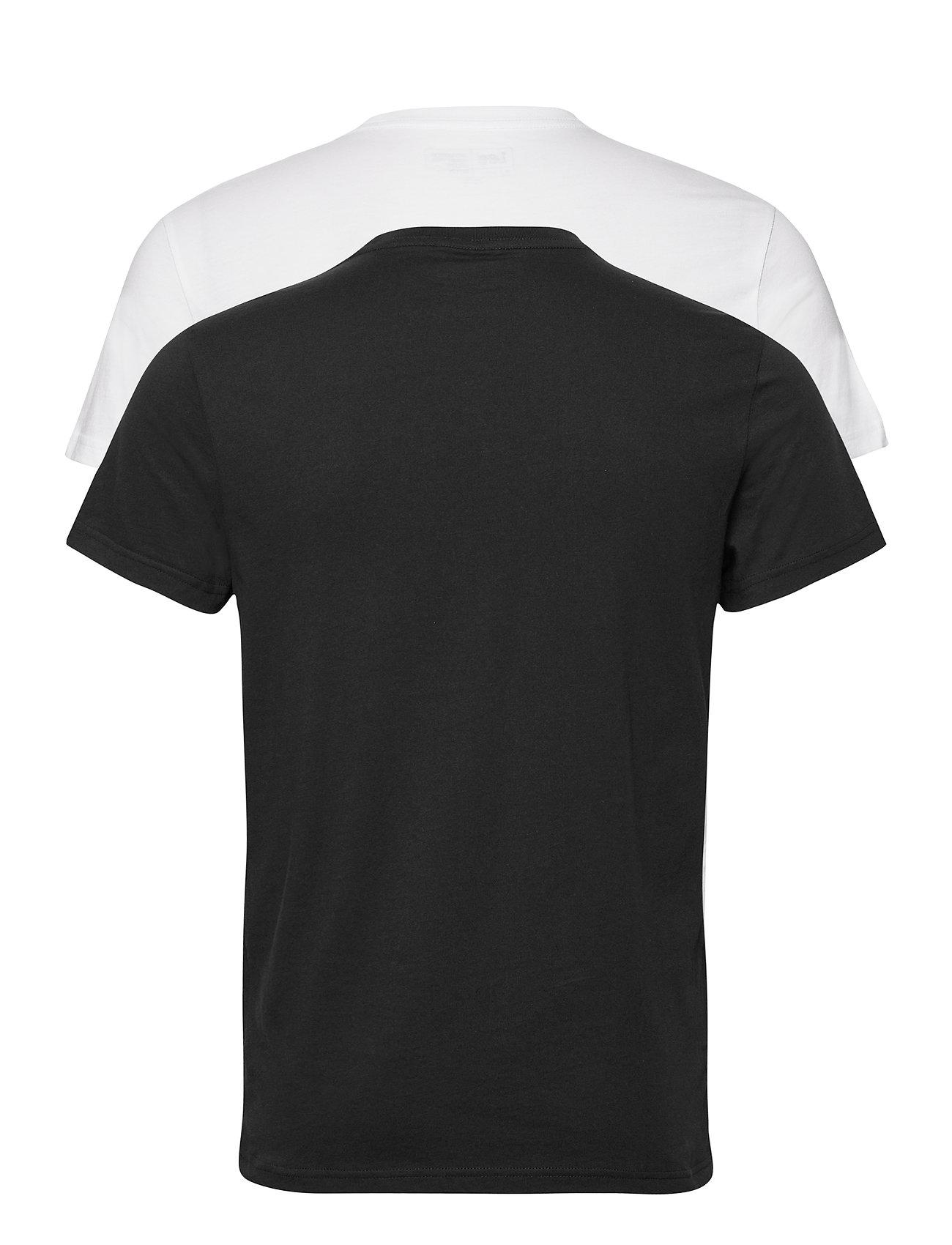 Lee Jeans - 2-PACK CREW - basic t-shirts - black white - 1