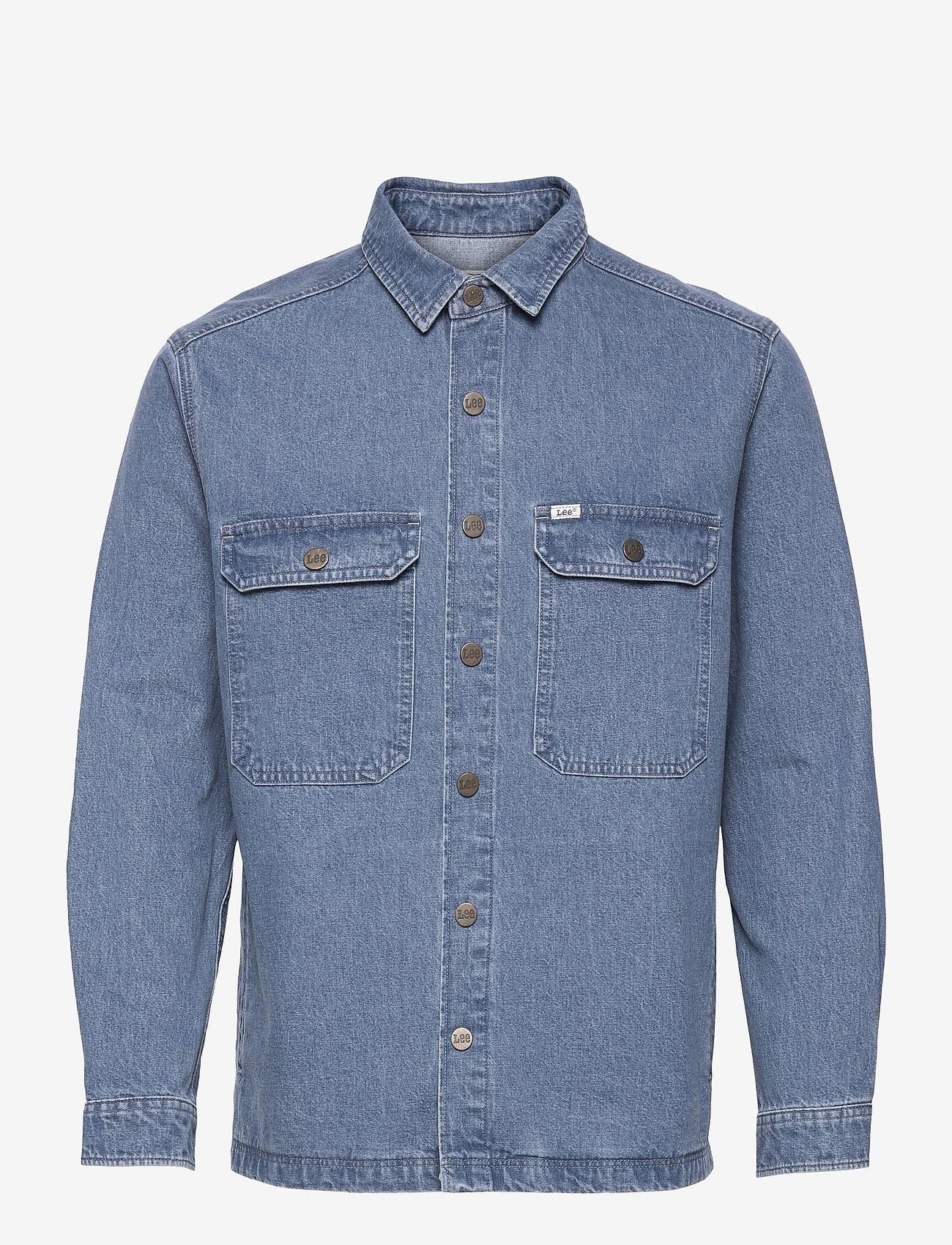 Lee Jeans - WORKWEAR OVERSHIRT - tops - grey bala - 0