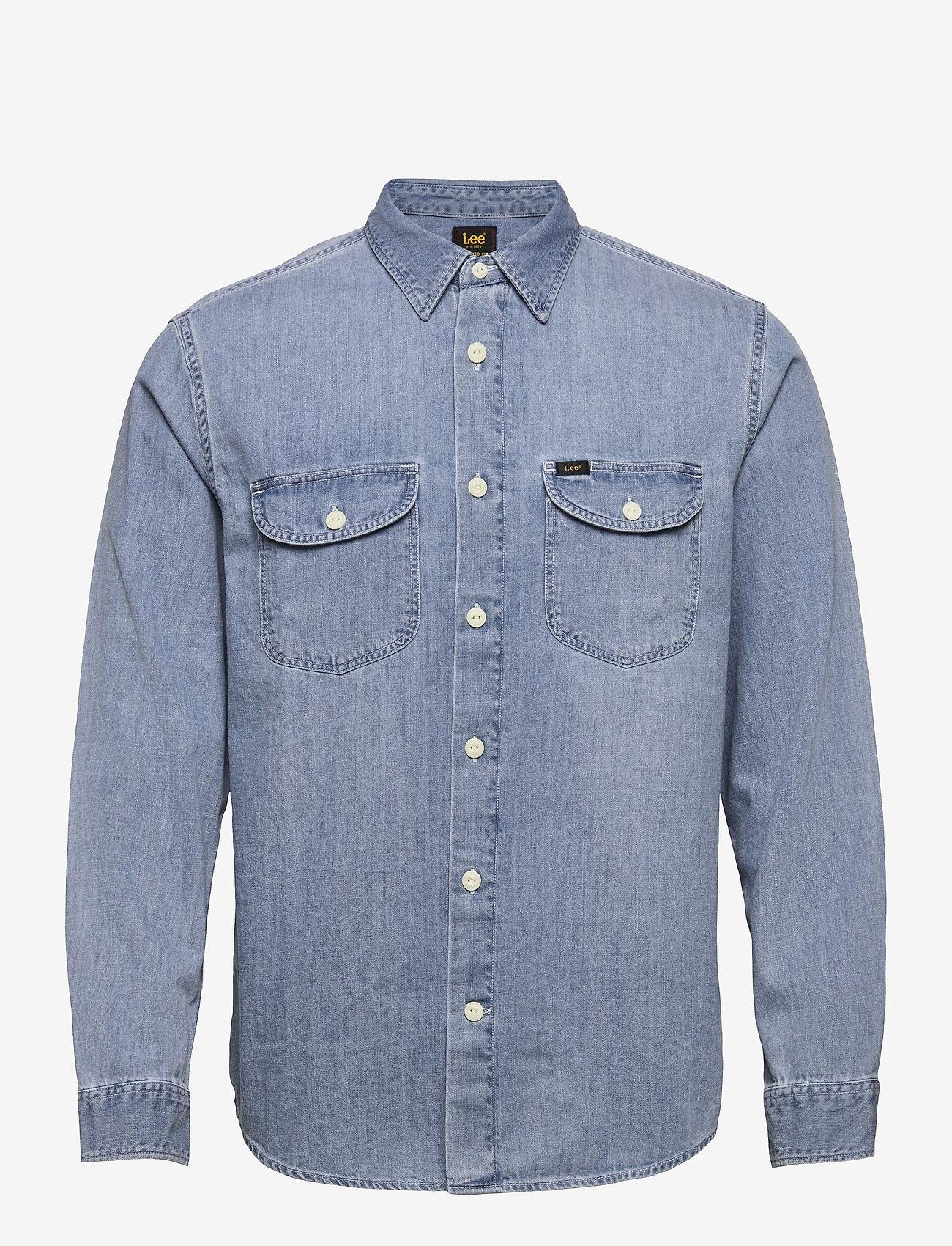 Lee Jeans - WORKER SHIRT - denim shirts - frost blue - 0