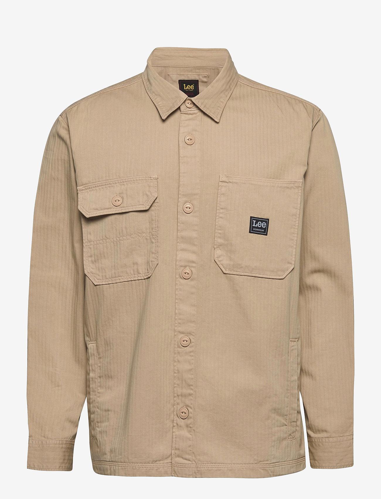 Lee Jeans - BOX POCKET OVERSHIRT - tops - service sand - 0
