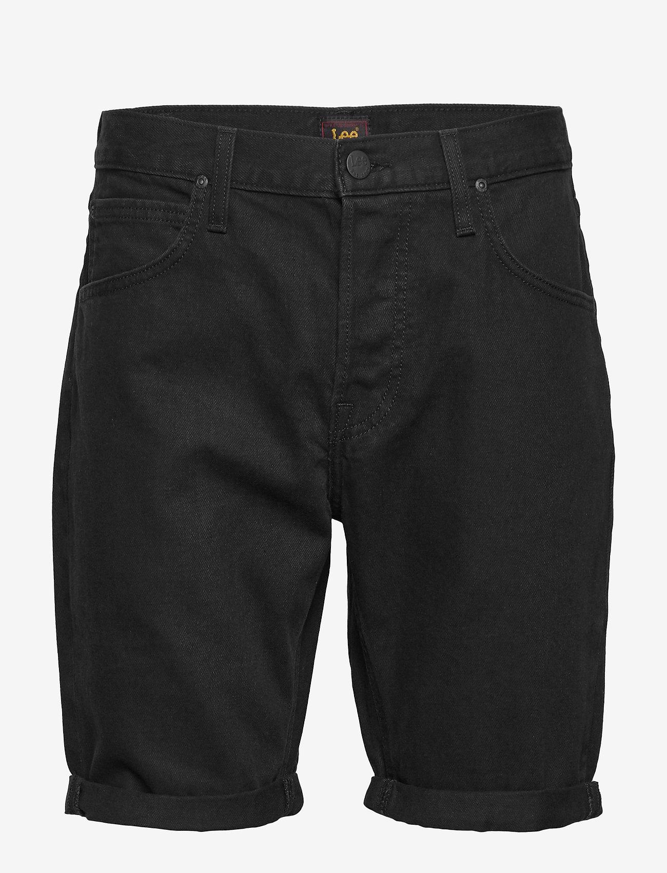 Lee Jeans - 5 POCKET SHORT - denim shorts - black rinse - 0