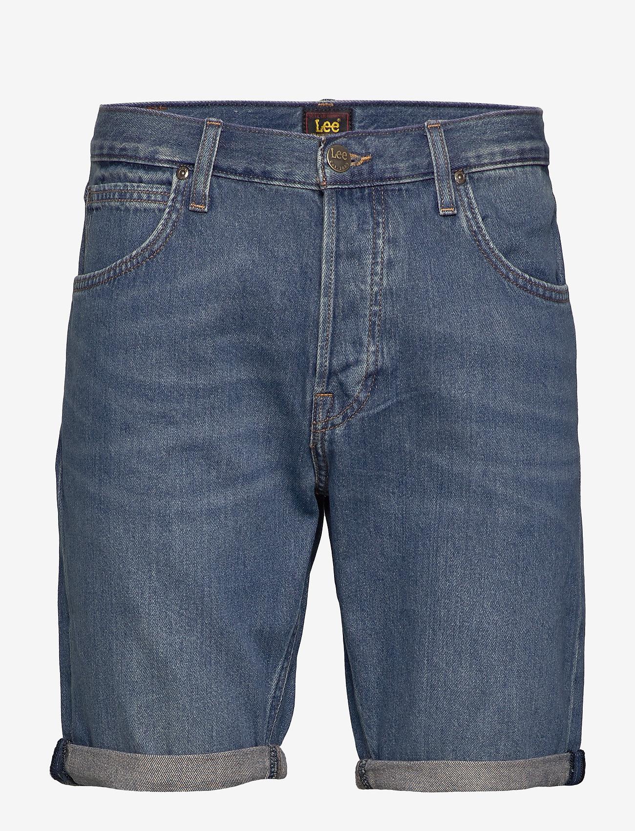 Lee Jeans - 5 POCKET SHORT - denim shorts - soft mid aliso - 0