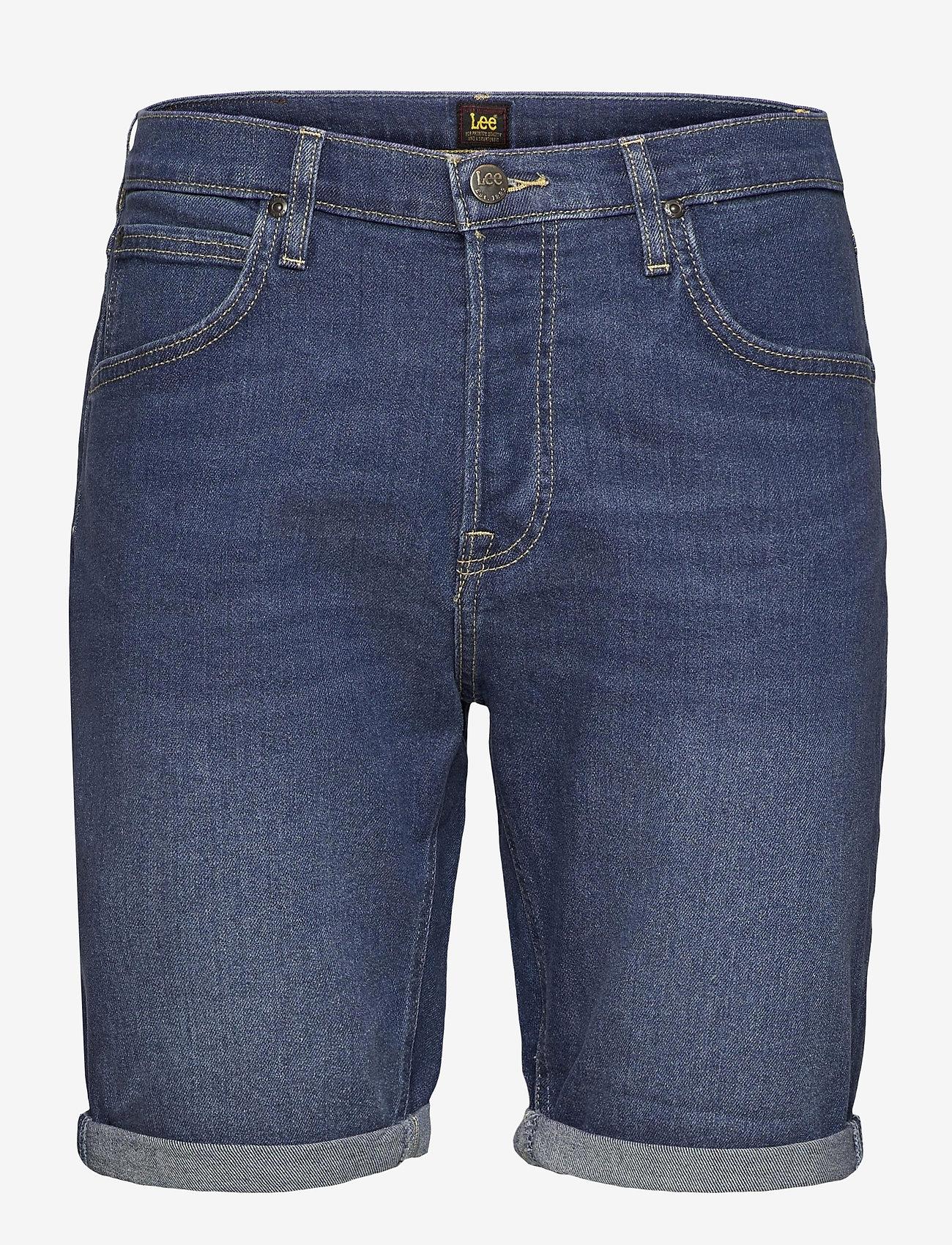 Lee Jeans - 5 POCKET SHORT - denim shorts - hawaii dark - 0