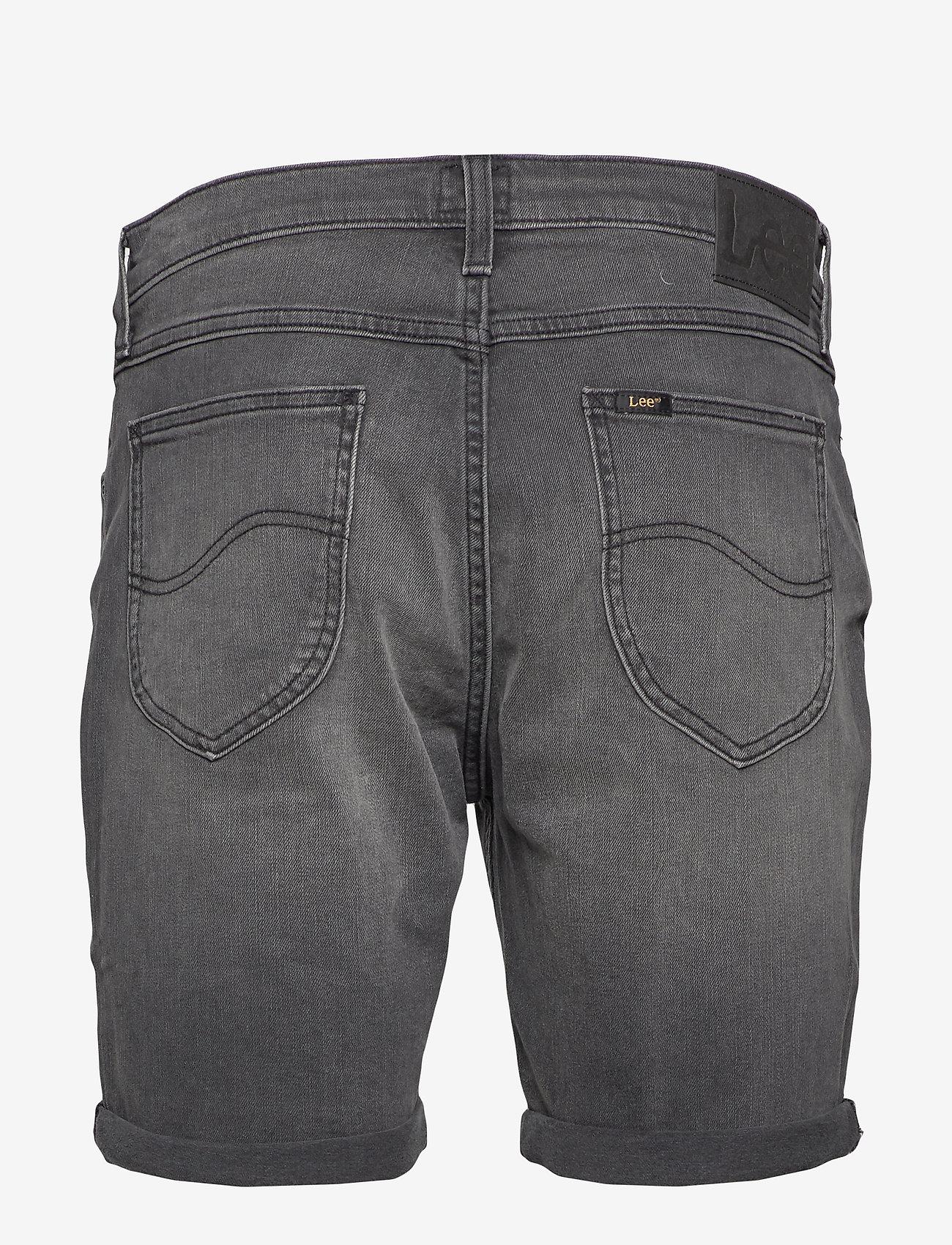 Lee Jeans - RIDER SHORT - denim shorts - moto worn in - 1