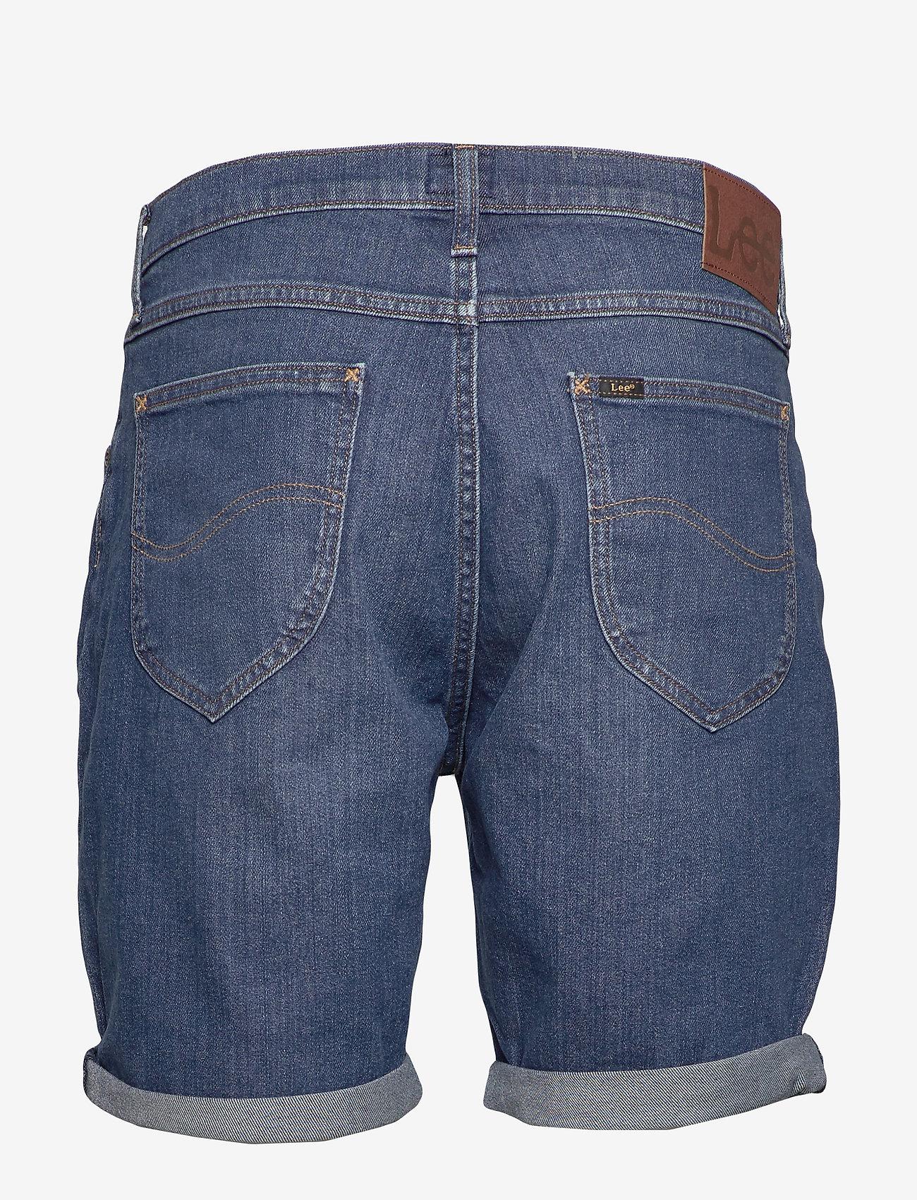 Lee Jeans - RIDER SHORT - denim shorts - hawaii dark - 1