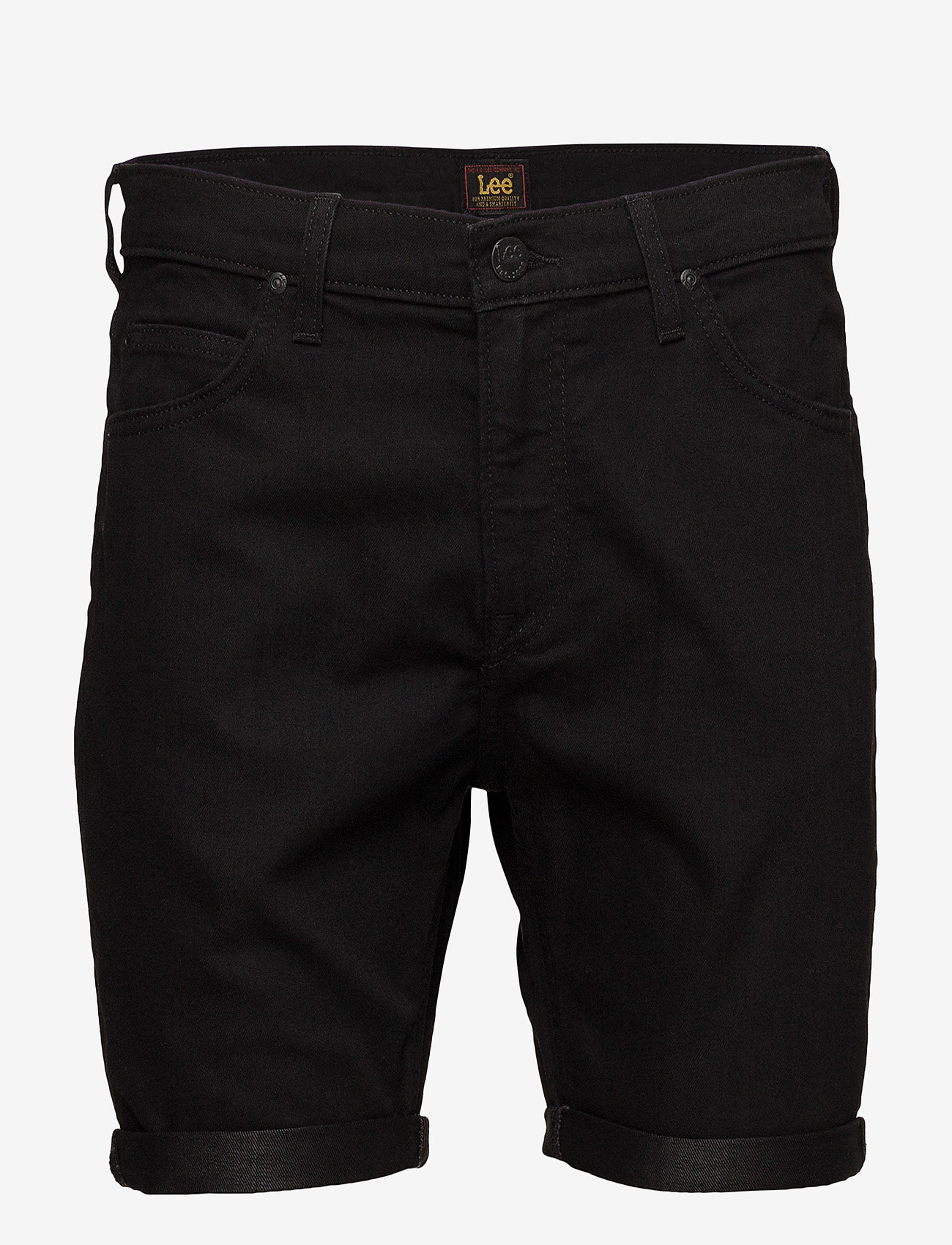 Lee Jeans - RIDER SHORT - farkkushortsit - black rinse - 0