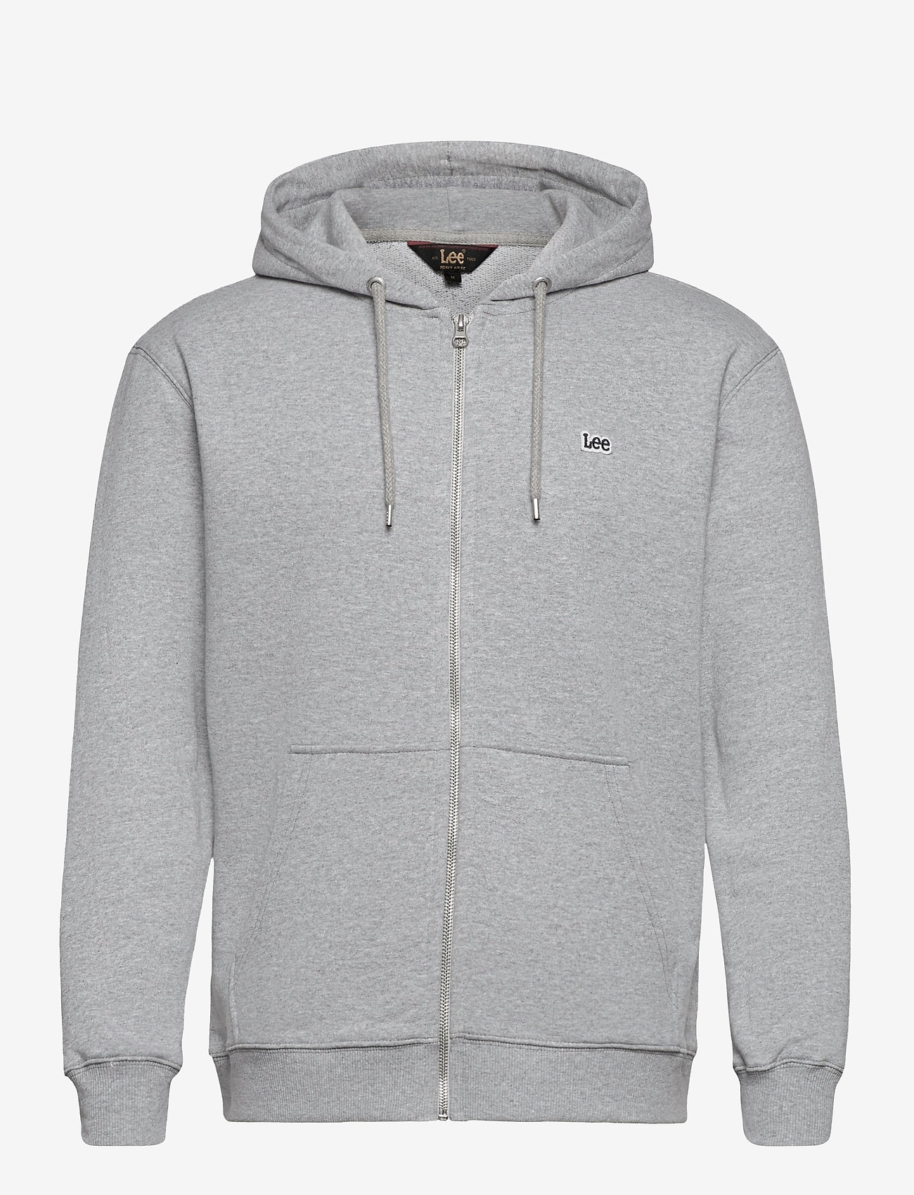 Lee Jeans - BASIC ZIP THROUGH HO - basic sweatshirts - grey mele - 0